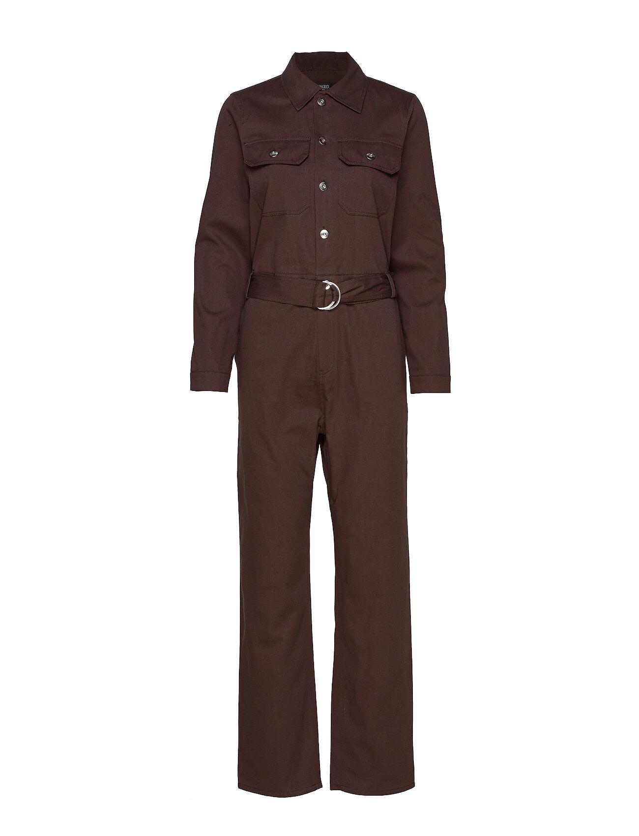 Soaked in Luxury Sl Cedar Jumpsuit Jumpsuit Haalari Ruskea Soaked In Luxury