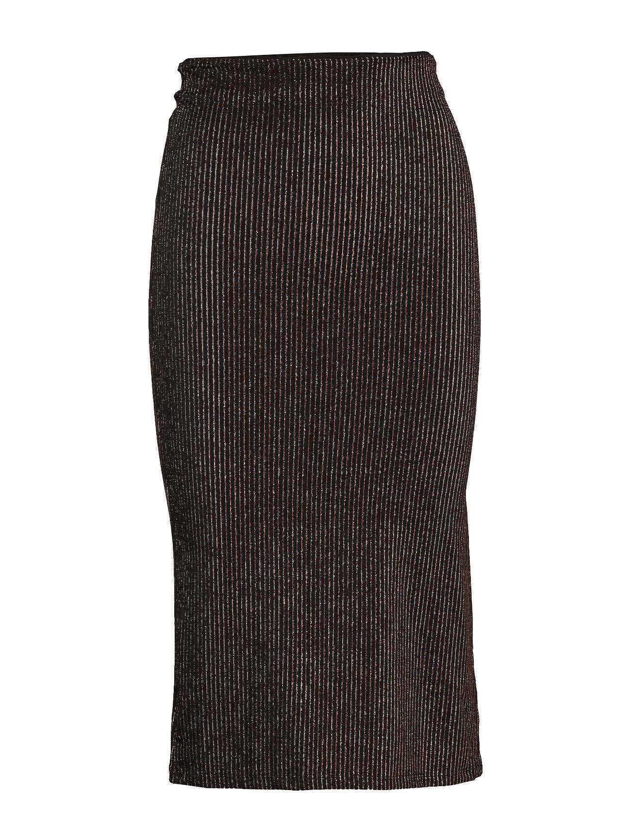 Soaked in Luxury Slmya Skirt Polvipituinen Hame Musta Soaked In Luxury