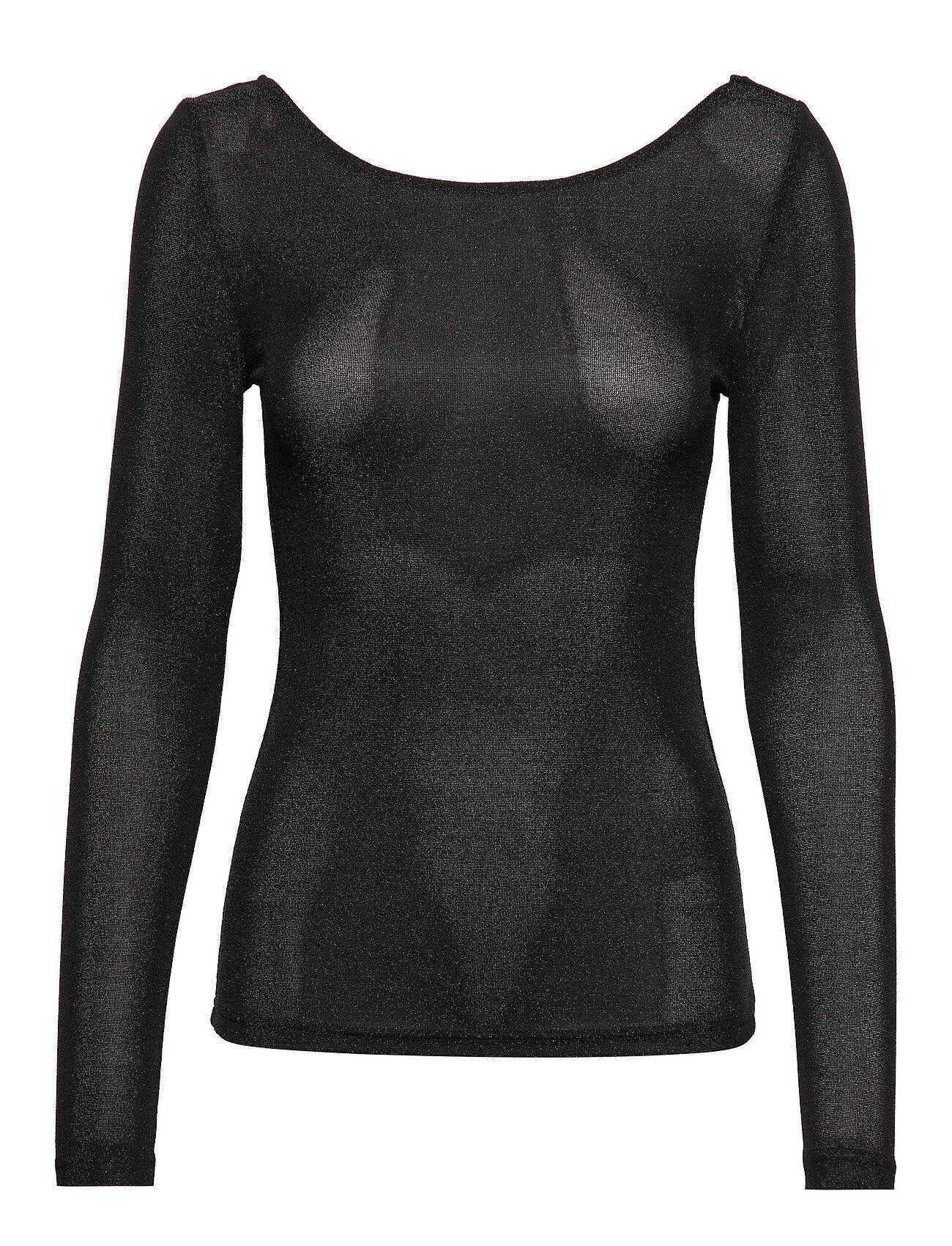 Soaked in Luxury Slskylara Top T-shirts & Tops Long-sleeved Musta Soaked In Luxury