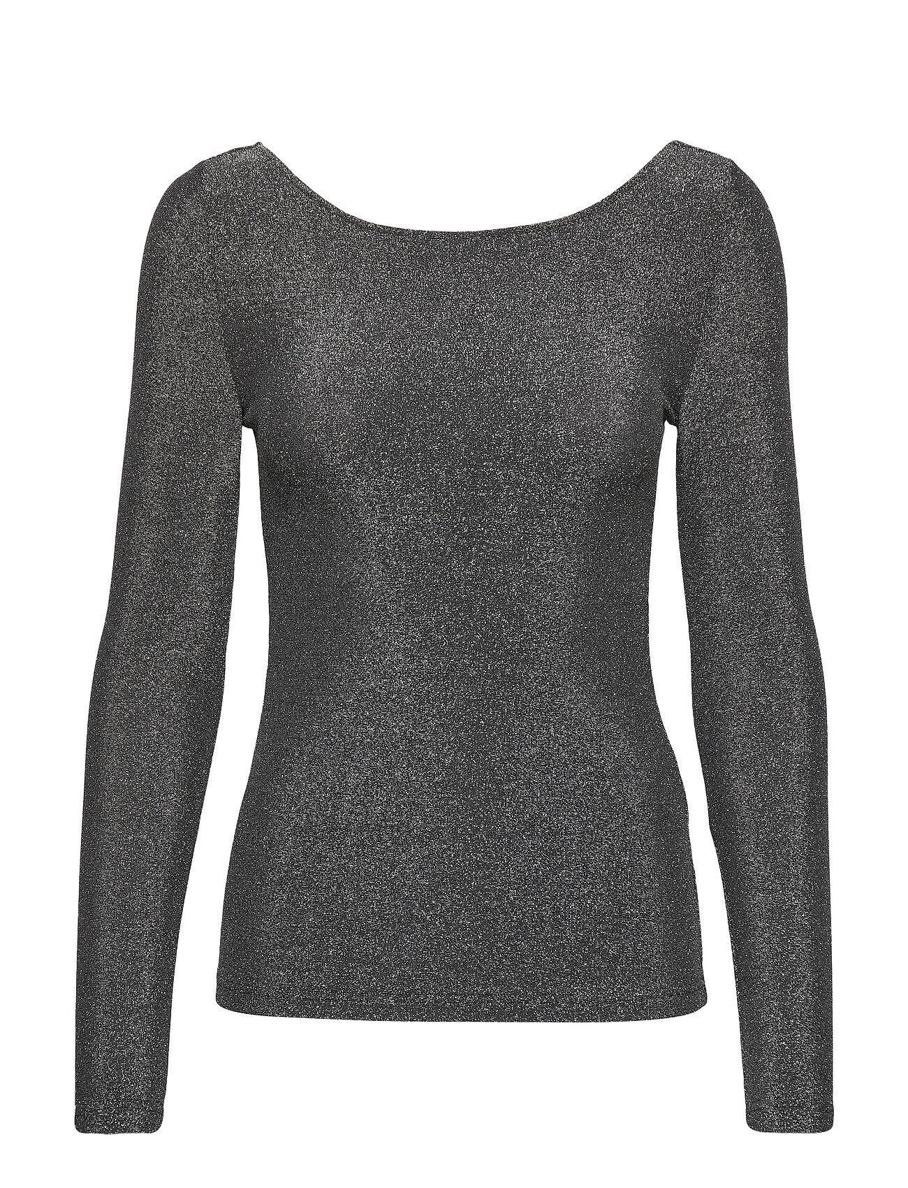 Soaked in Luxury Slskylara Top T-shirts & Tops Long-sleeved Harmaa Soaked In Luxury