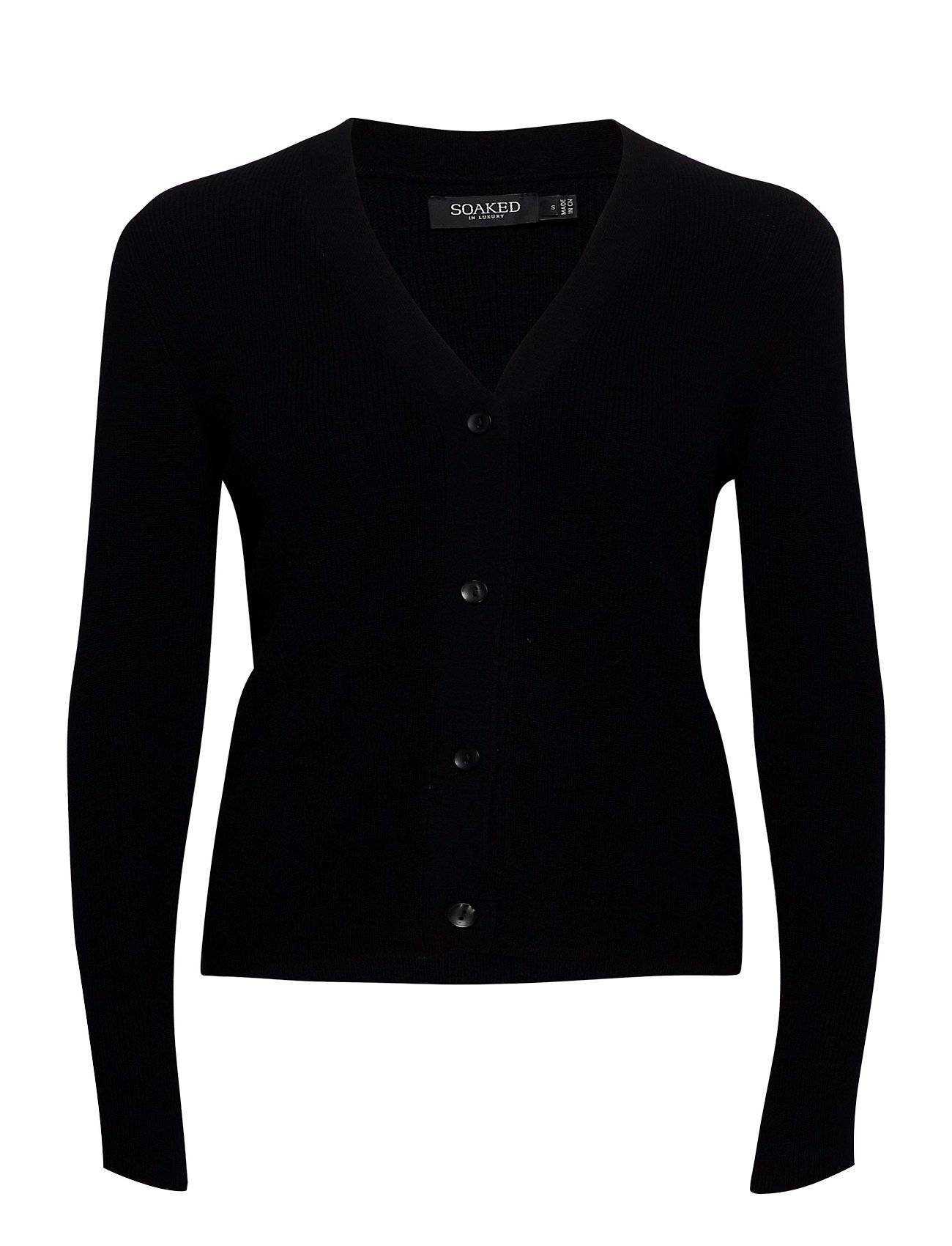 Soaked in Luxury Sljuliana Cardigan Ls Neuletakki Musta Soaked In Luxury