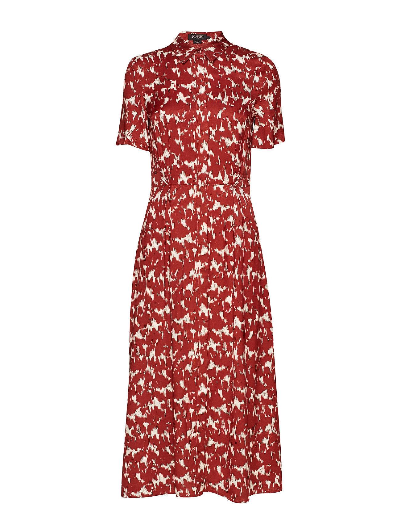 Soaked in Luxury Slzaldana Shirt Dress Print Polvipituinen Mekko Punainen Soaked In Luxury