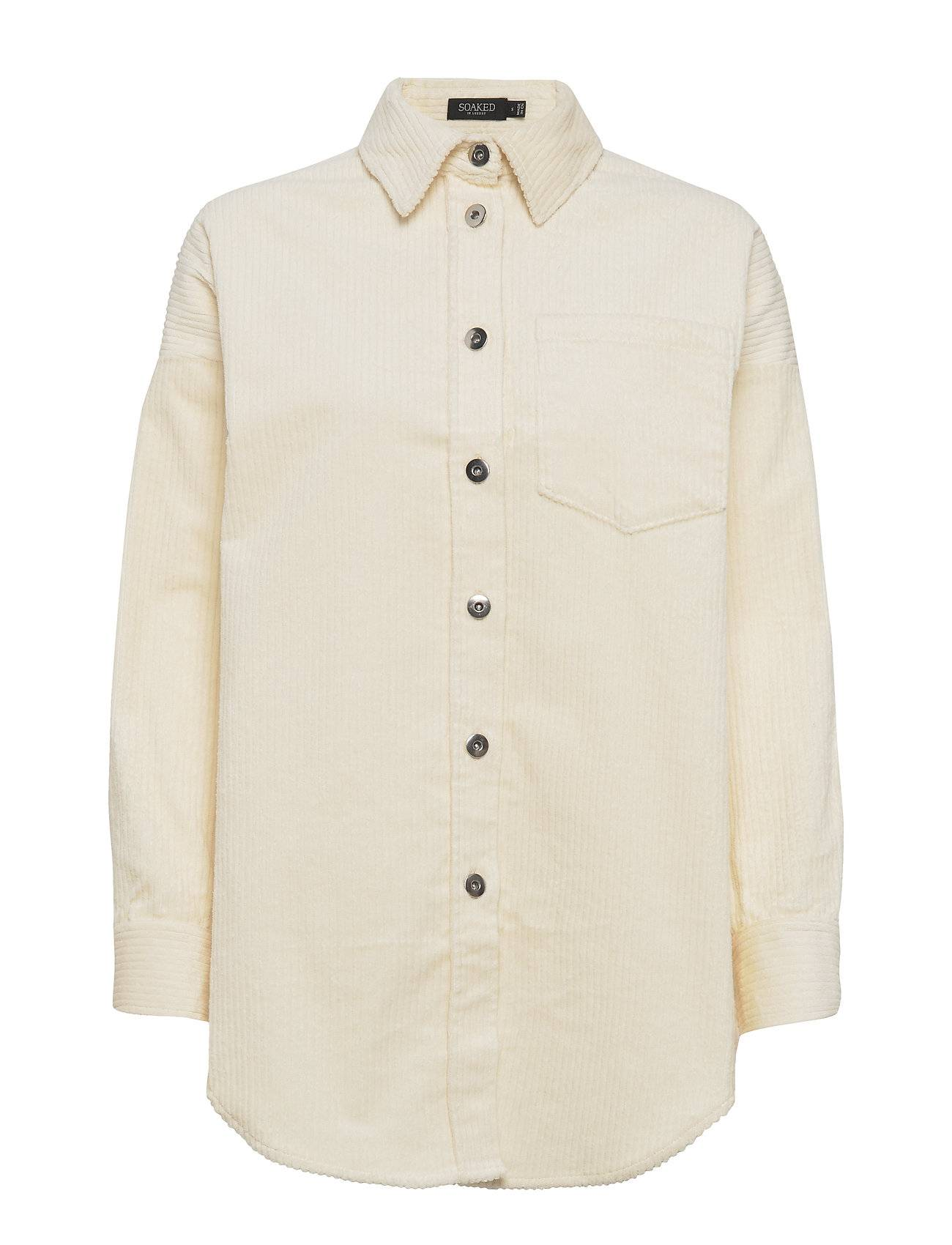 Soaked in Luxury Slviivi Shirt Ls Pitkähihainen Paita Kermanvärinen Soaked In Luxury