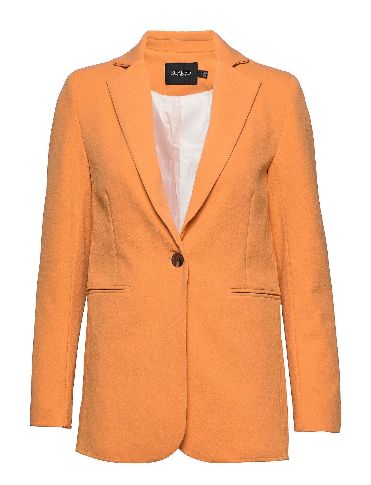 Soaked in Luxury Slribea Blazer Ls Bleiseri Puvun Takki Oranssi Soaked In Luxury