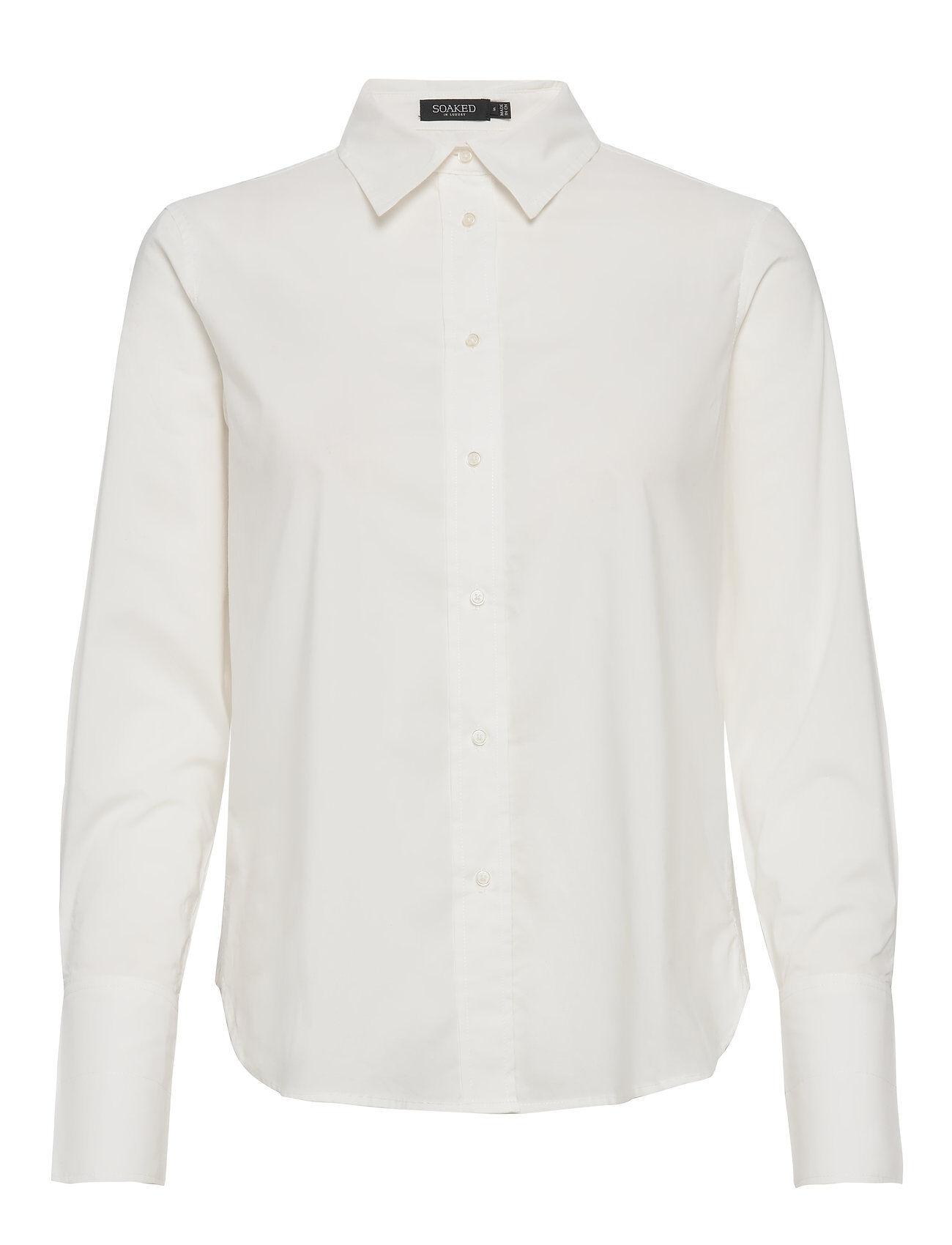 Soaked in Luxury Slpaper Shirt Ls Pitkähihainen Paita Valkoinen Soaked In Luxury