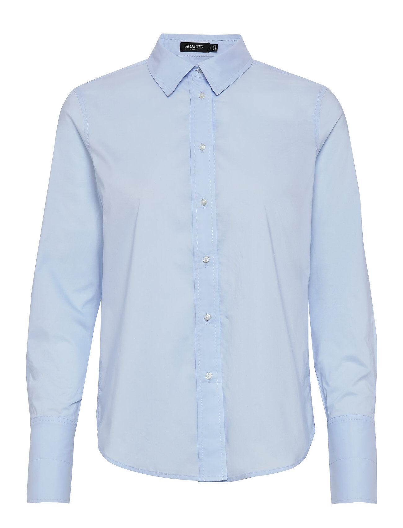 Soaked in Luxury Slpaper Shirt Ls Pitkähihainen Paita Sininen Soaked In Luxury