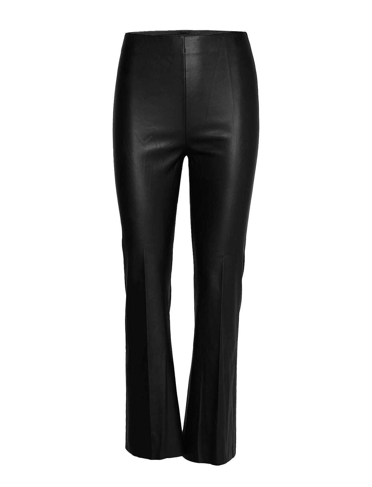 Soaked in Luxury Slkaylee Pu Kickflare Pants Leather Leggings/Housut Musta Soaked In Luxury