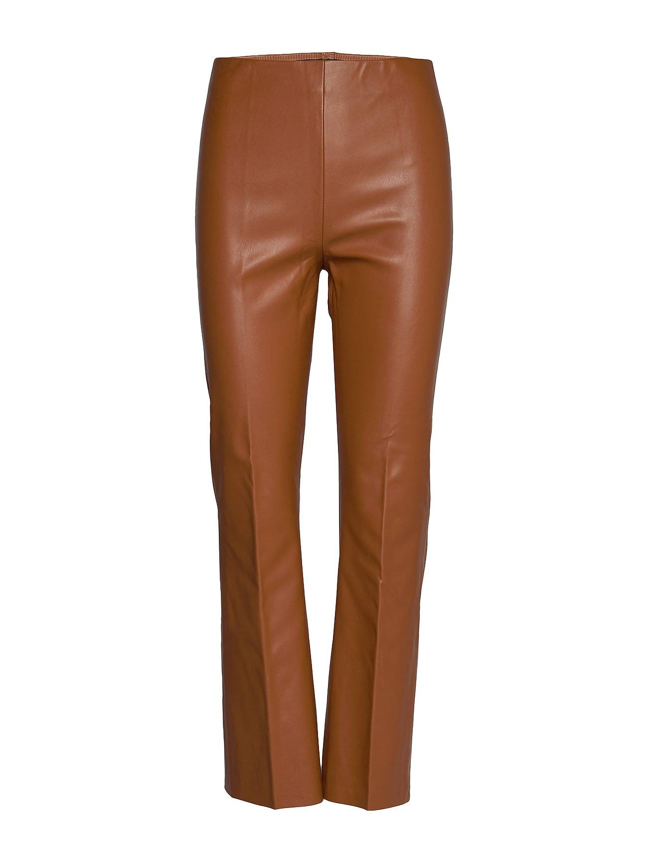 Soaked in Luxury Slkaylee Pu Kickflare Pants Leather Leggings/Housut Ruskea Soaked In Luxury