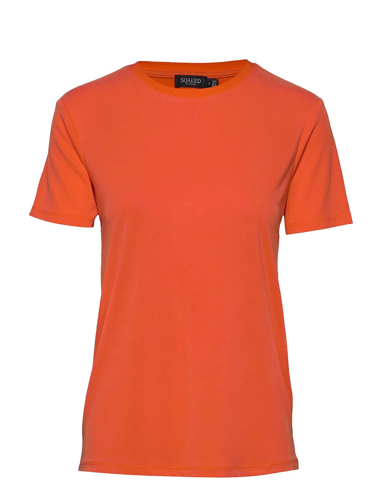Soaked in Luxury Slcolumbine Crew-Neck T-Shirt Ss T-shirts & Tops Short-sleeved Soaked In Luxury
