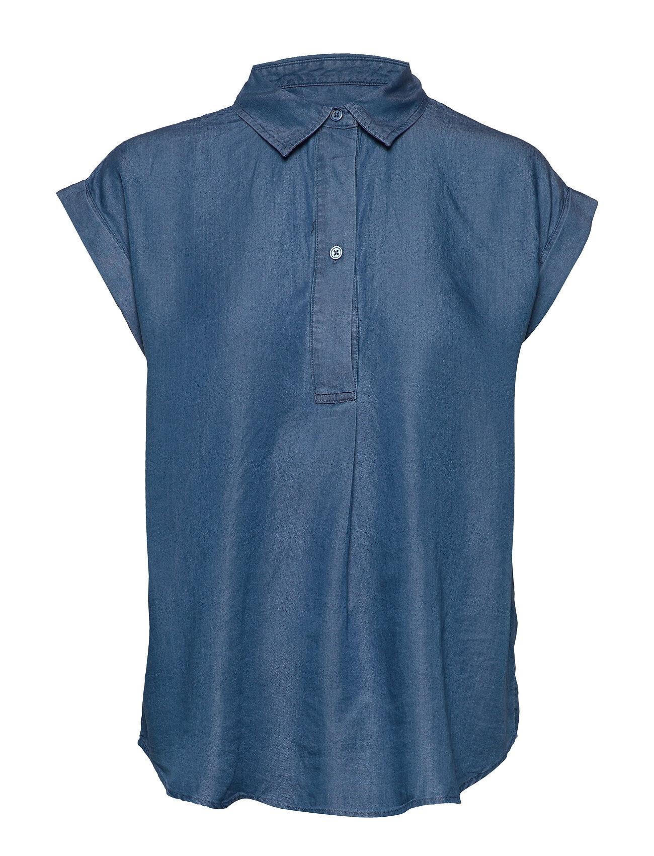 Soaked in Luxury Sldariana Shirt Ss Lyhythihainen Paita Sininen Soaked In Luxury