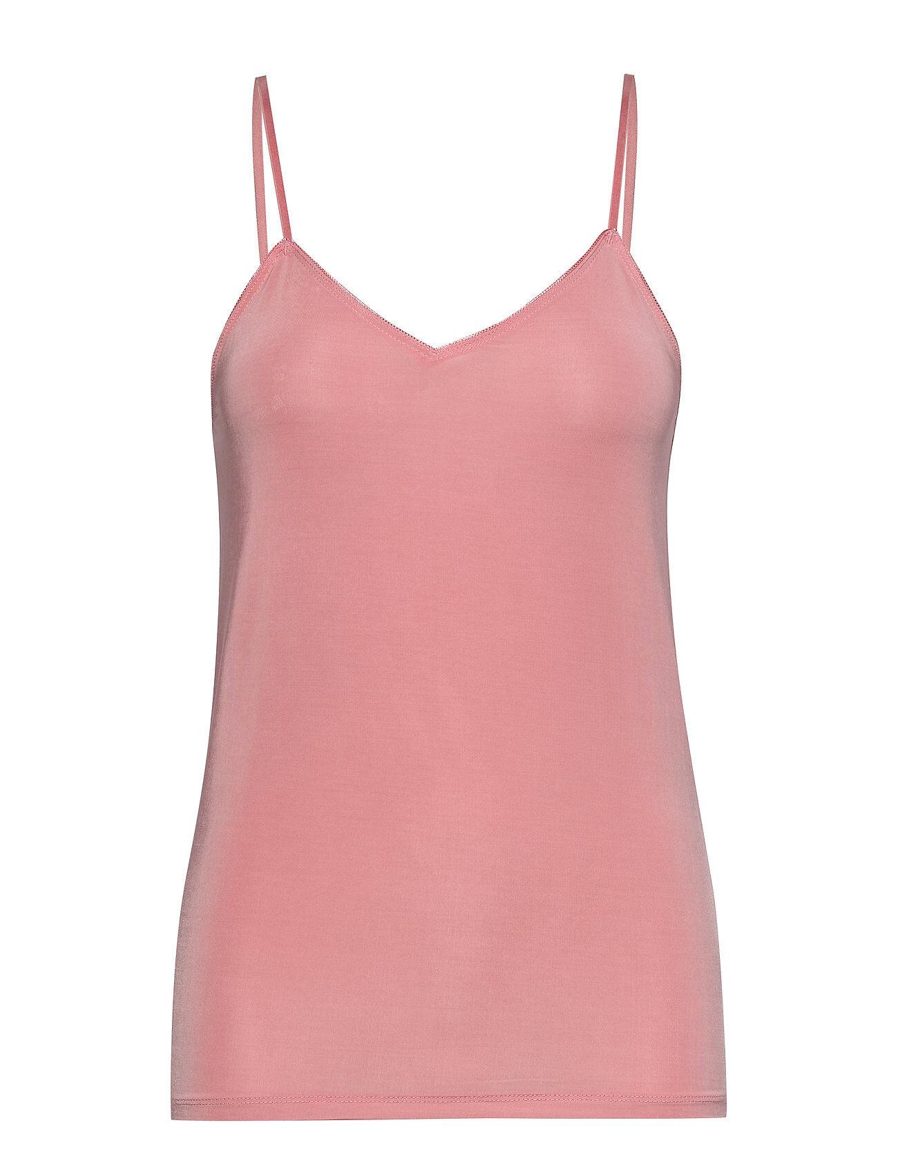 Soaked in Luxury Slclara Plain Singlet T-shirts & Tops Sleeveless Vaaleanpunainen Soaked In Luxury