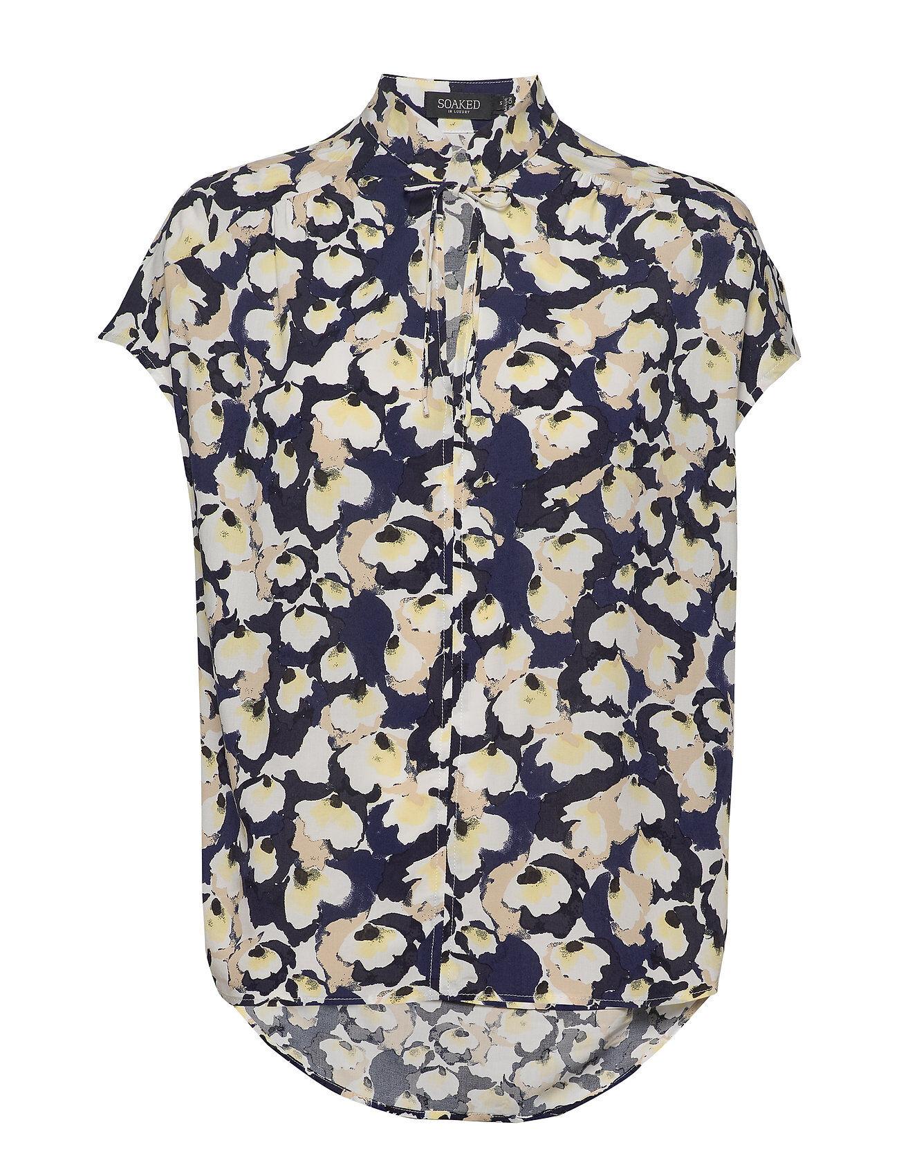 Soaked in Luxury Slrafina Top Blouses Short-sleeved Monivärinen/Kuvioitu Soaked In Luxury