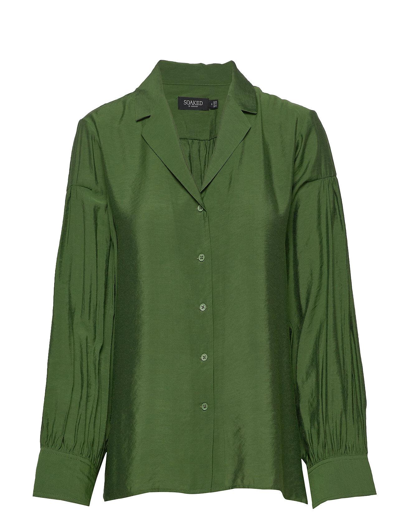 Soaked in Luxury Slperama Shirt Pitkähihainen Paita Vihreä Soaked In Luxury