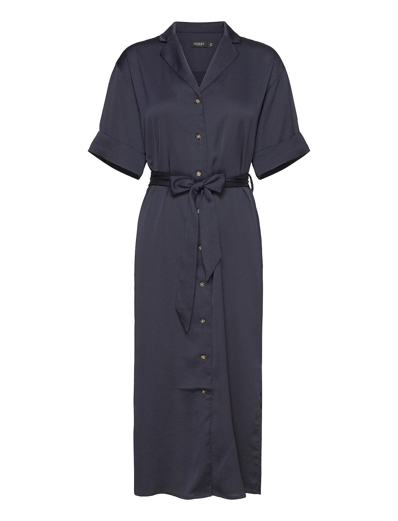Soaked in Luxury Slveria Dress Ss Polvipituinen Mekko Sininen Soaked In Luxury