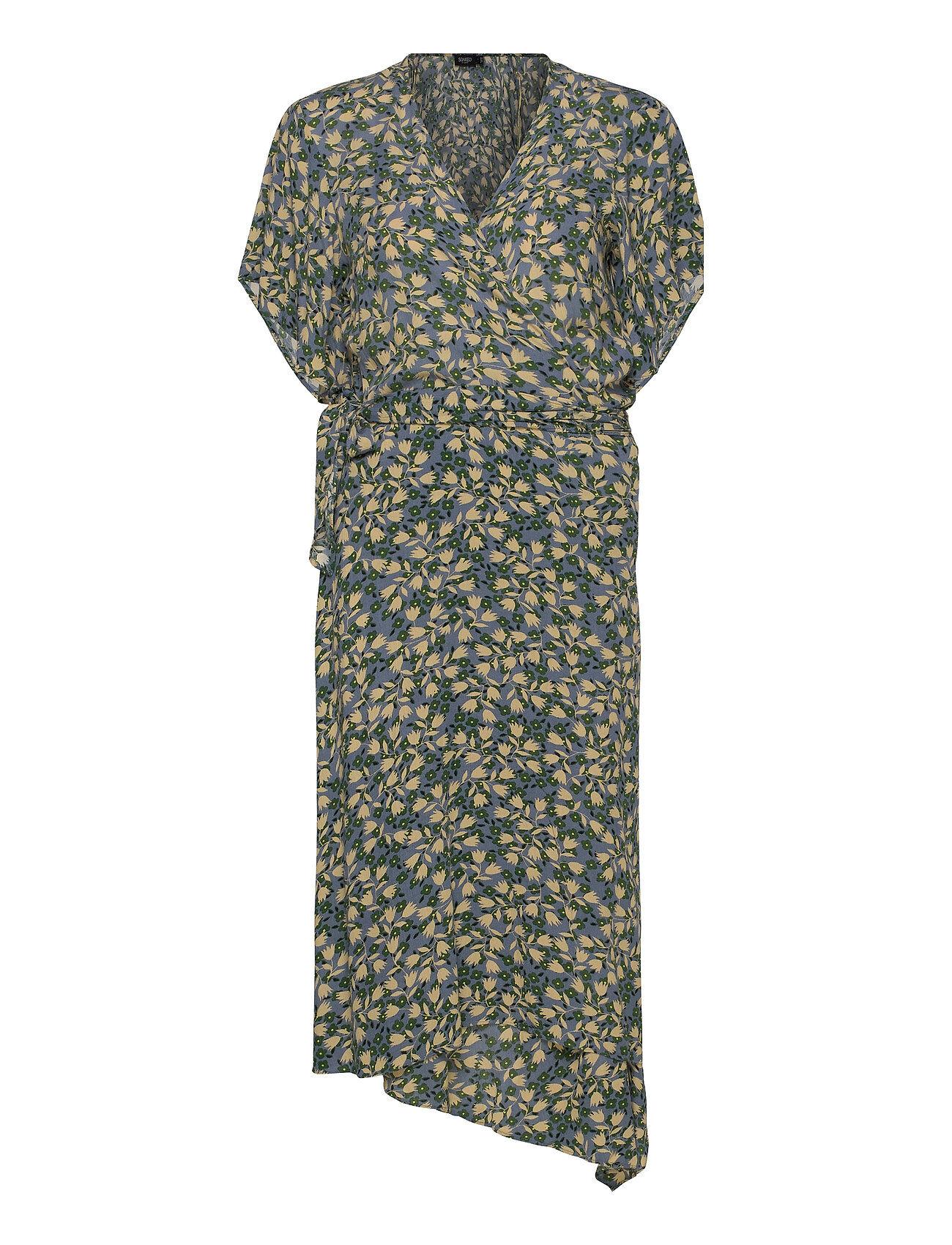 Soaked in Luxury Slilio Dress Ss Polvipituinen Mekko Vihreä Soaked In Luxury