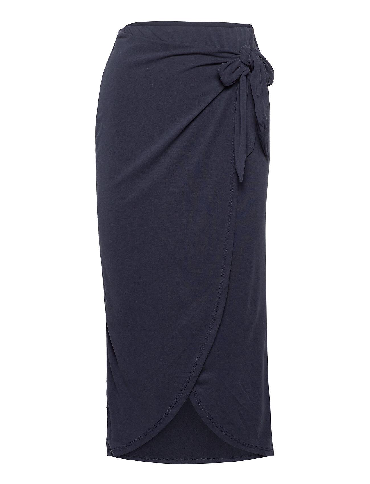 Soaked in Luxury Slcoluni Skirt Polvipituinen Hame Sininen Soaked In Luxury
