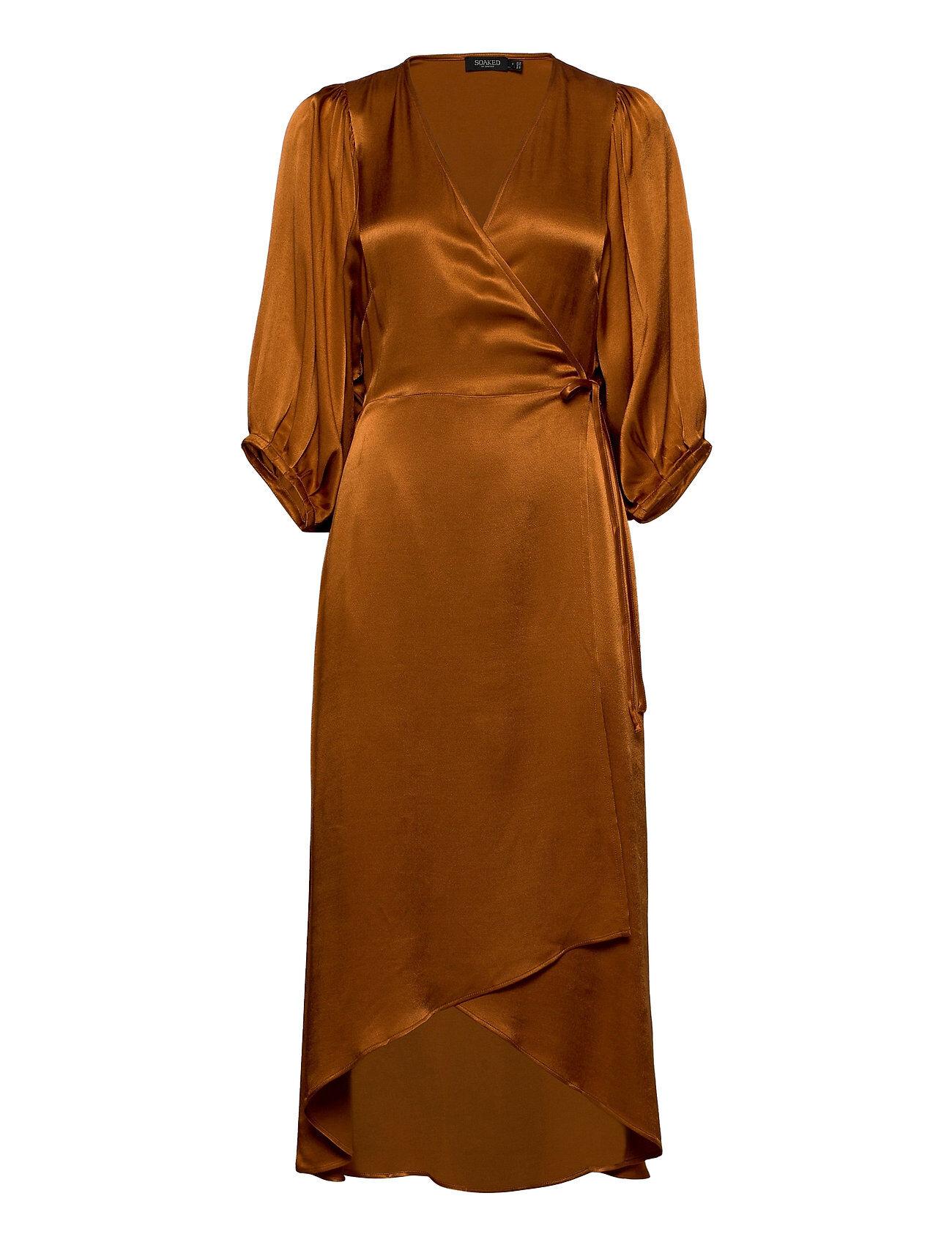 Soaked in Luxury Slnanuli Dress 3/4 Polvipituinen Mekko Ruskea Soaked In Luxury