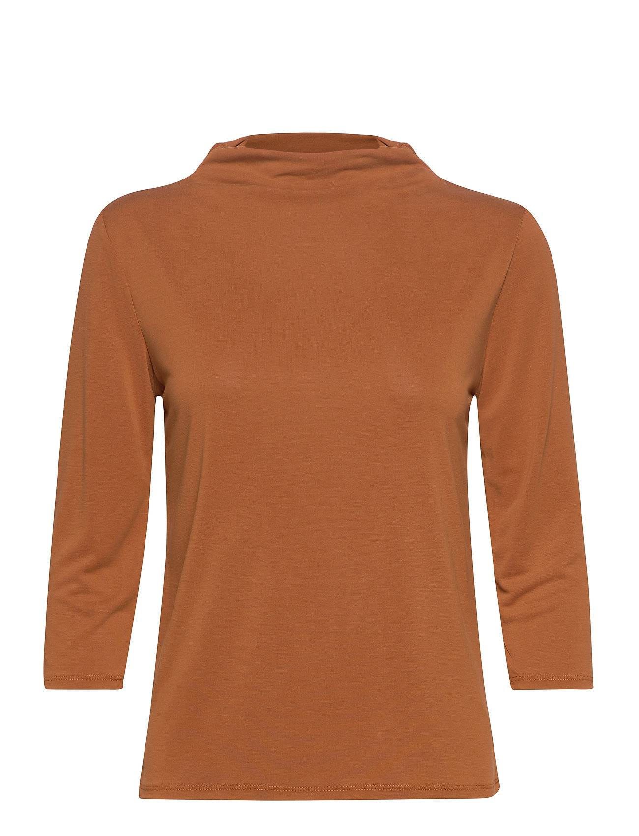 Soaked in Luxury Slcolissa Top 3/4 T-shirts & Tops Long-sleeved Beige Soaked In Luxury