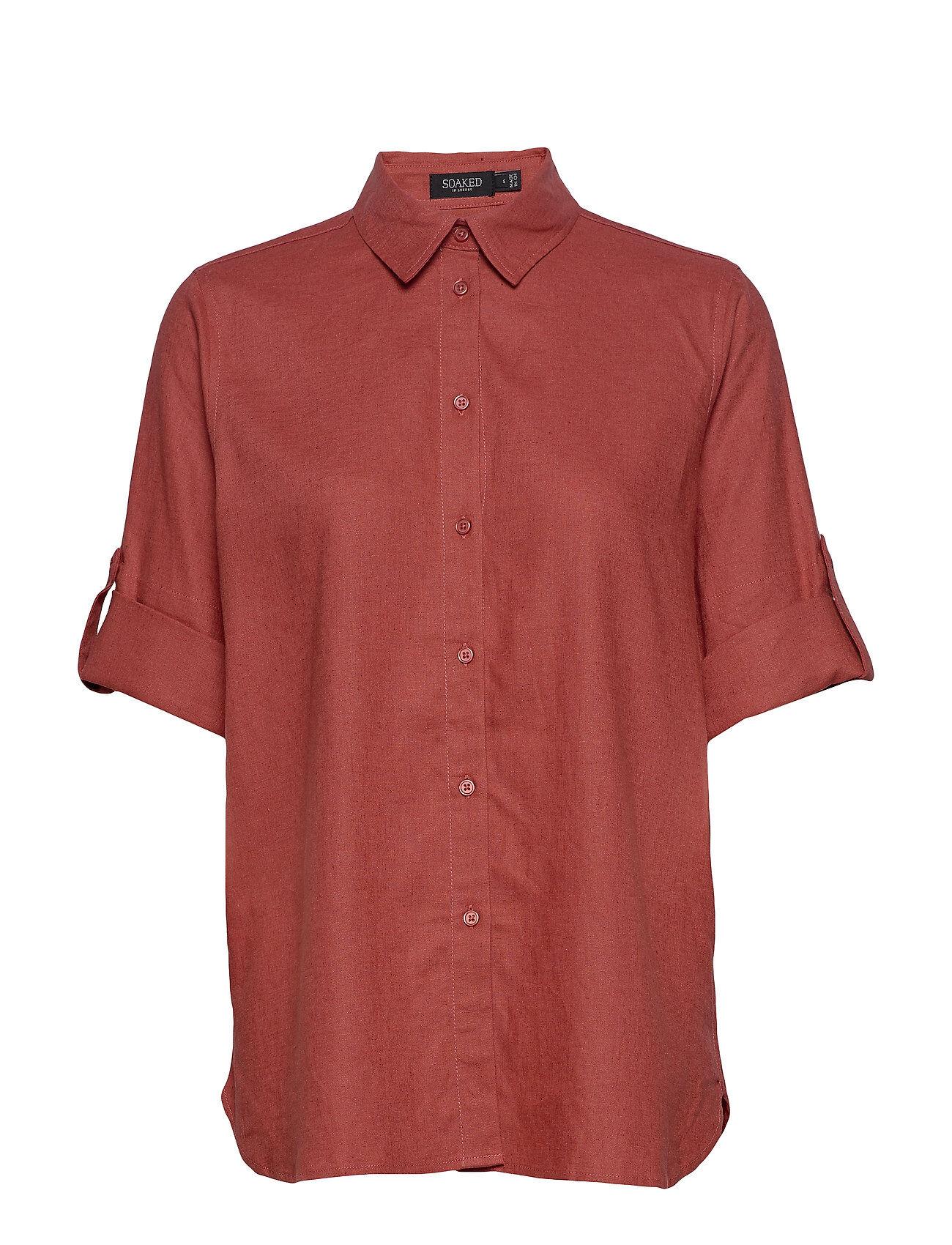 Soaked in Luxury Slturner Shirt Lyhythihainen Paita Punainen Soaked In Luxury