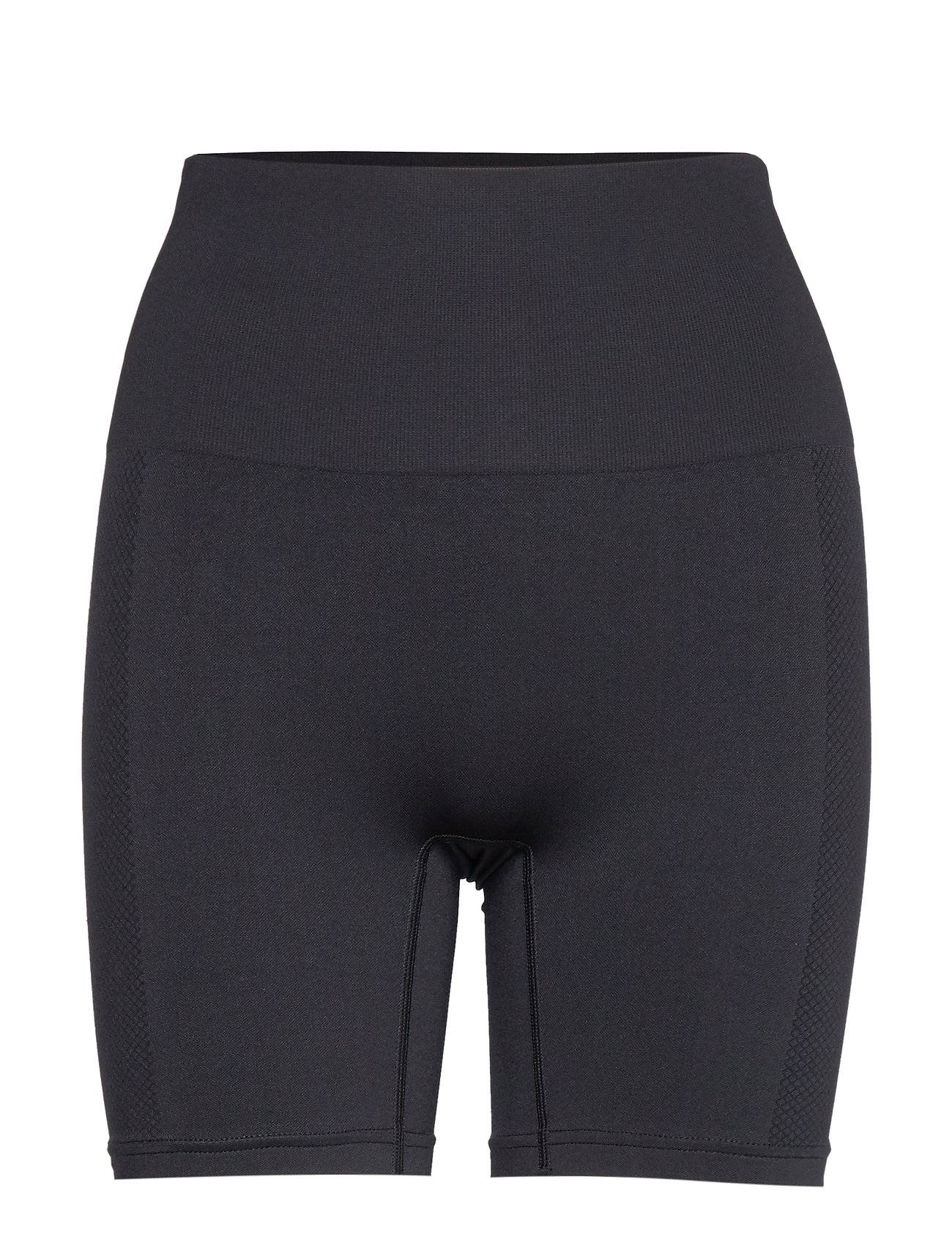 Image of Stay In Place Seamless Biker Tights Shorts Sport Shorts Musta