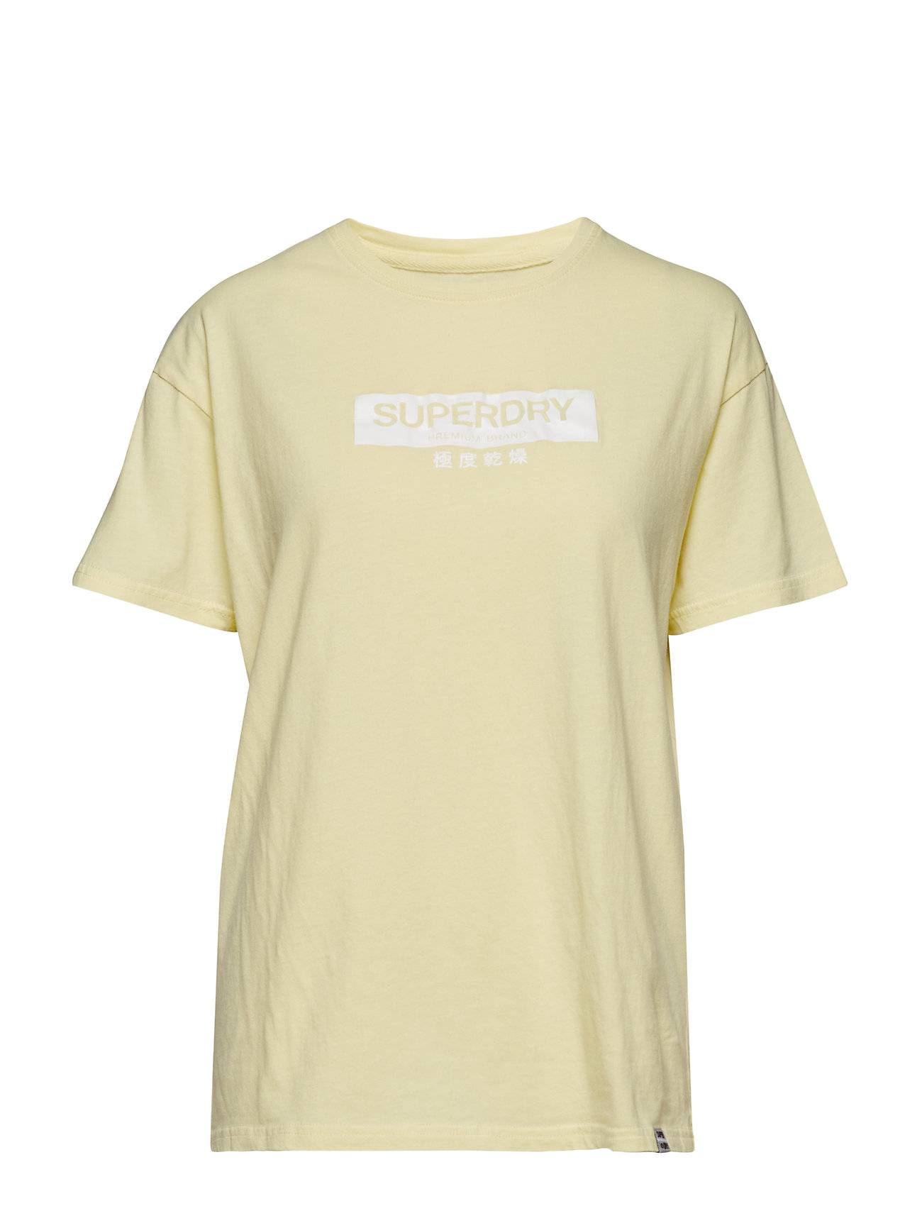 Superdry Premium Brand Classic Portland Tee T-shirts & Tops Short-sleeved Keltainen