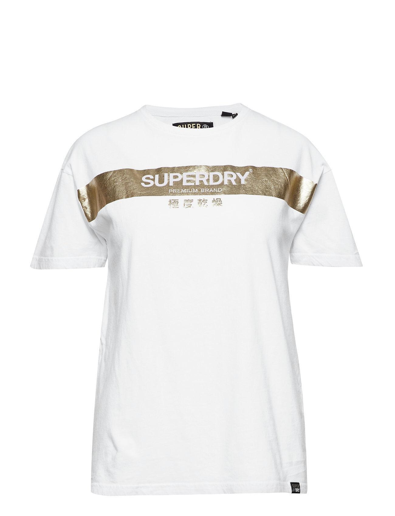 Superdry Premium Brand Foil Portland Tee T-shirts & Tops Short-sleeved Valkoinen