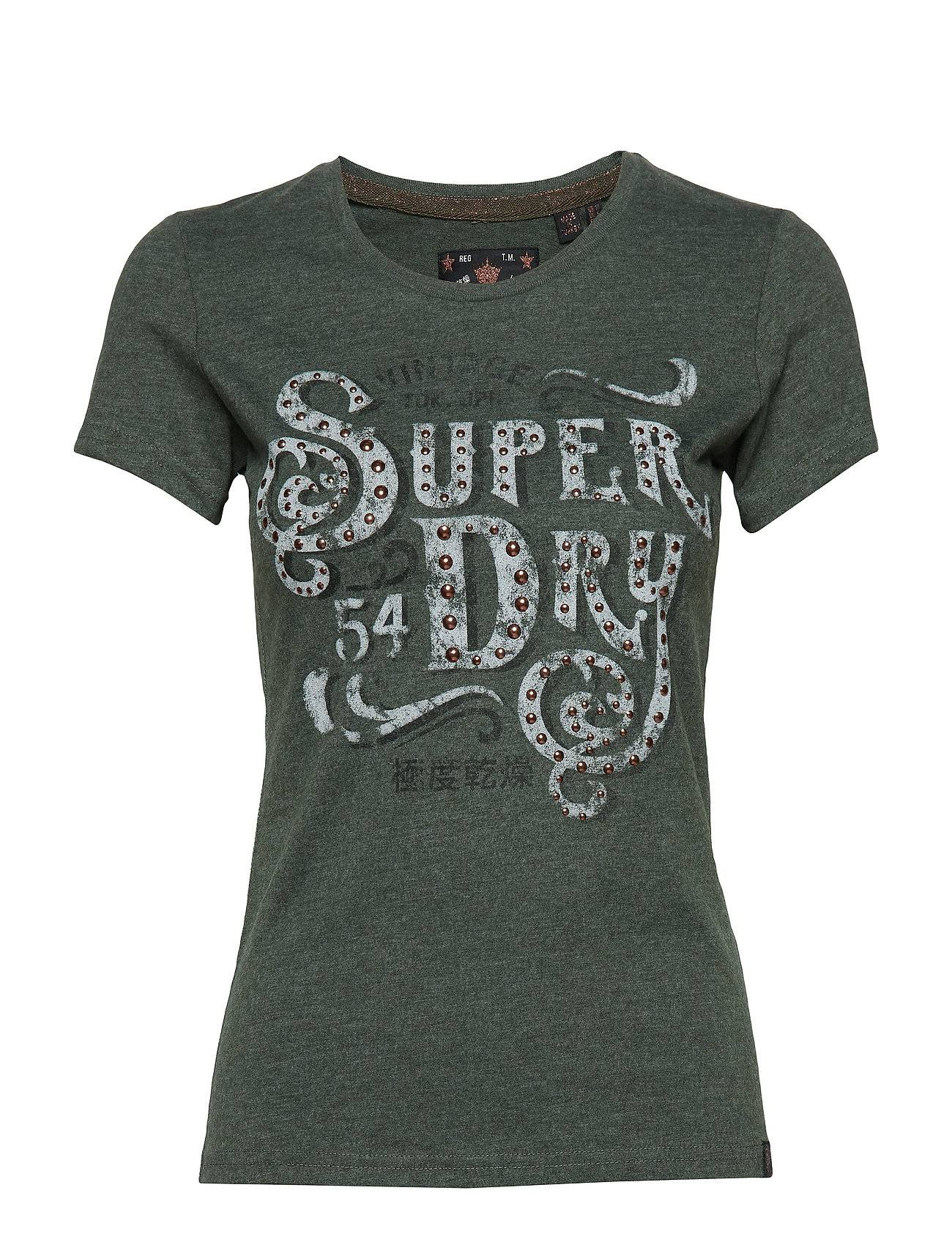 Superdry Frontier Script Studded Entry Tee
