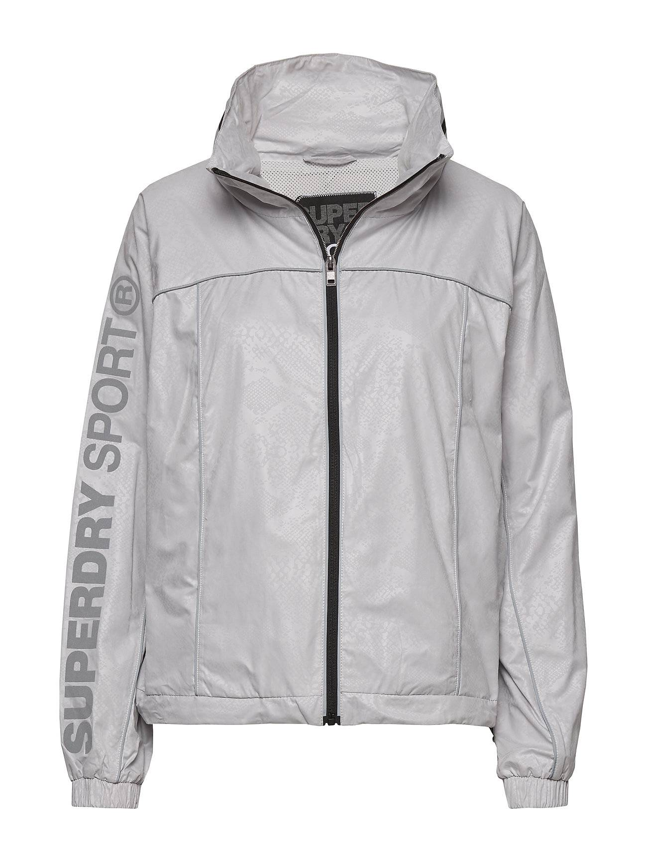 Superdry Gym Running Jacket Outerwear Sport Jackets Harmaa Superdry
