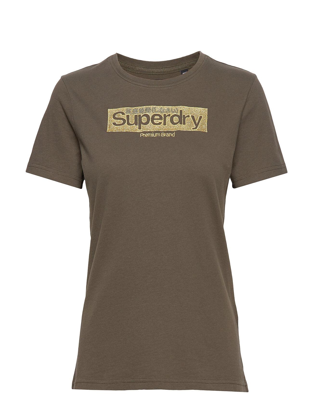 Superdry Premium Brand Emb Entry Tee T-shirts & Tops Short-sleeved Vihreä