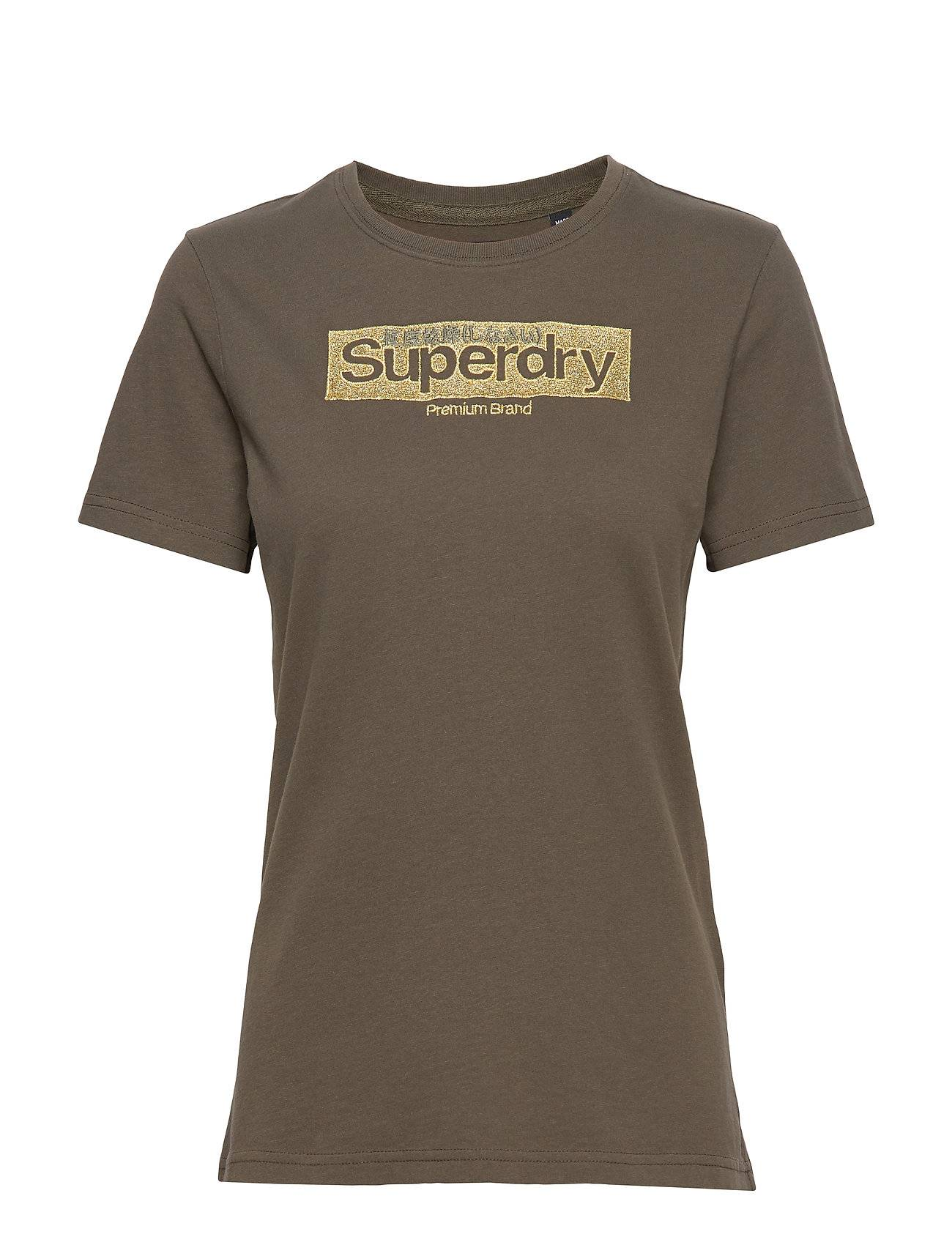 Superdry Premium Brand Emb Entry Tee T-shirts & Tops Short-sleeved Vihreä Superdry