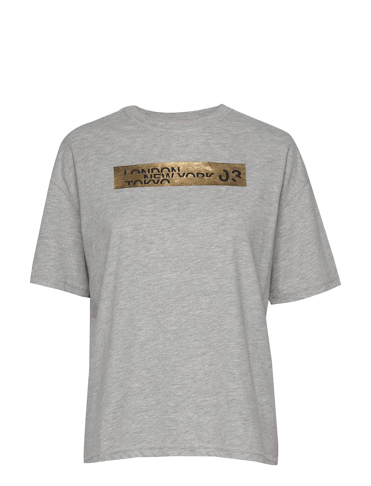 Superdry Brand Language City Box Fit Tee T-shirts & Tops Short-sleeved Harmaa Superdry