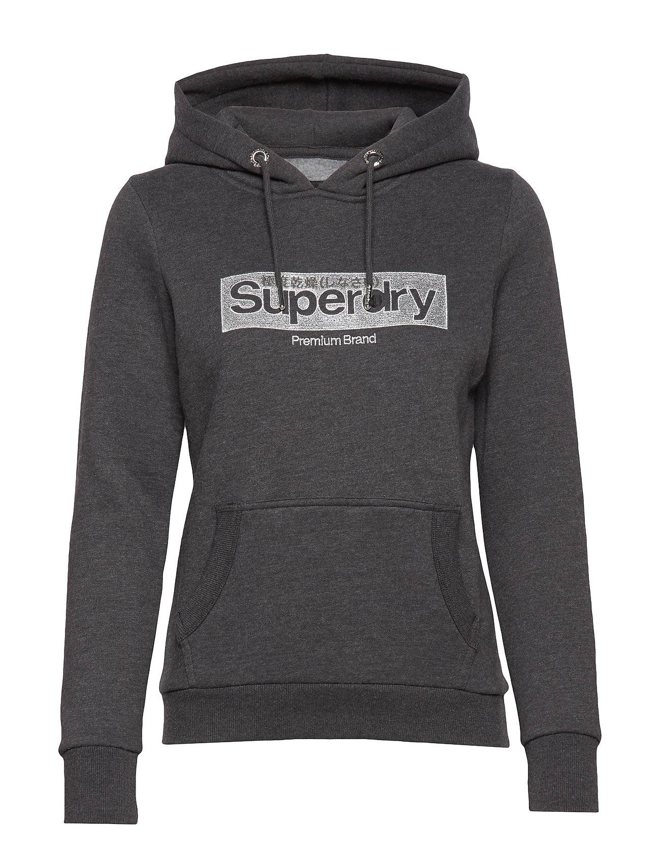 Superdry Premium Brand Emb Box Entry Hood Huppari Harmaa
