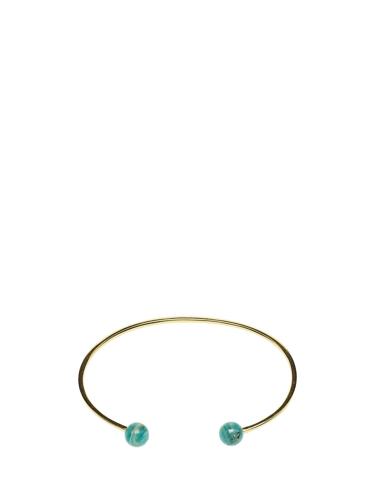 Syster P Planet Bracelet Gold Amazonite