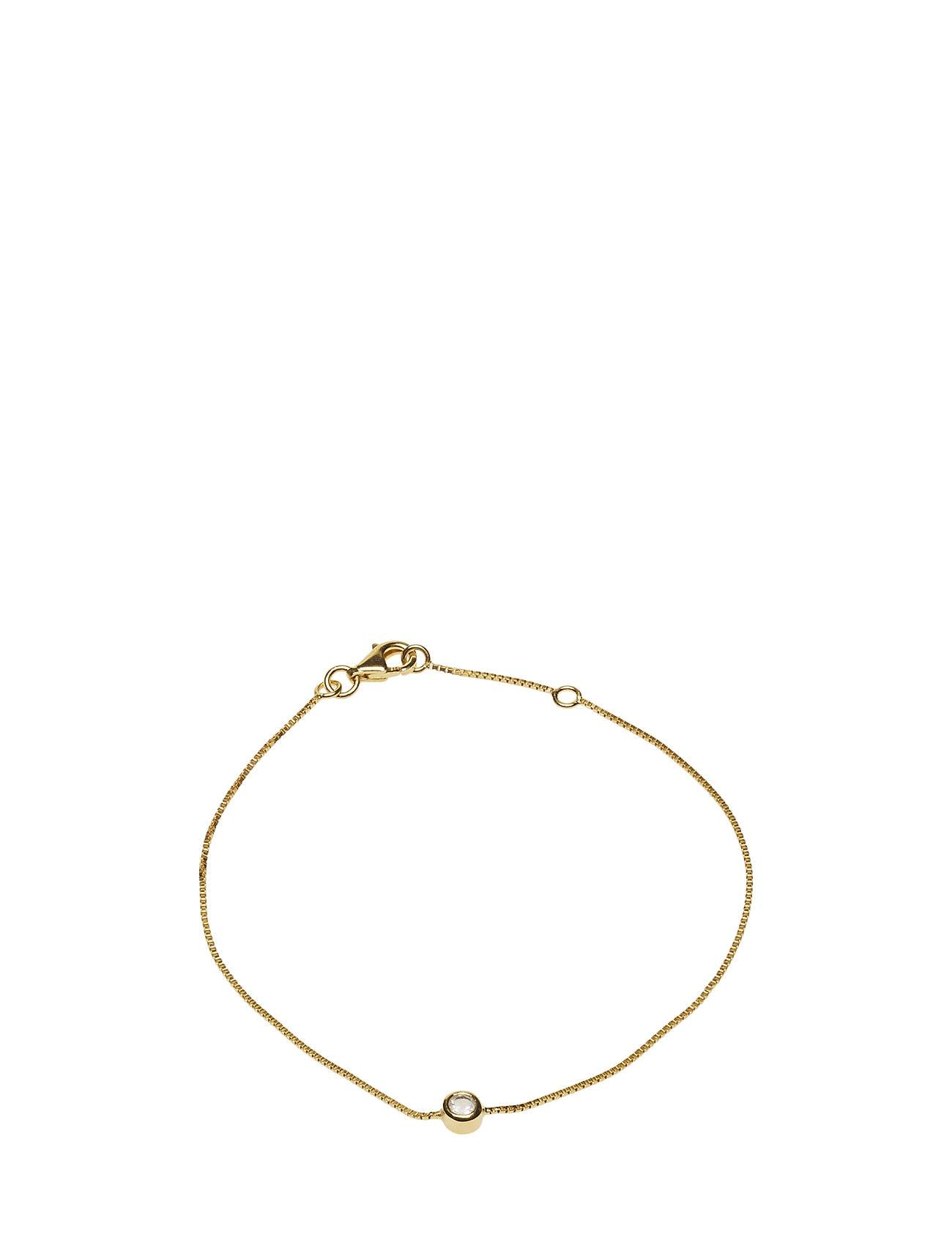 Syster P Minimalistica Solo Bracelet Gold Crystal