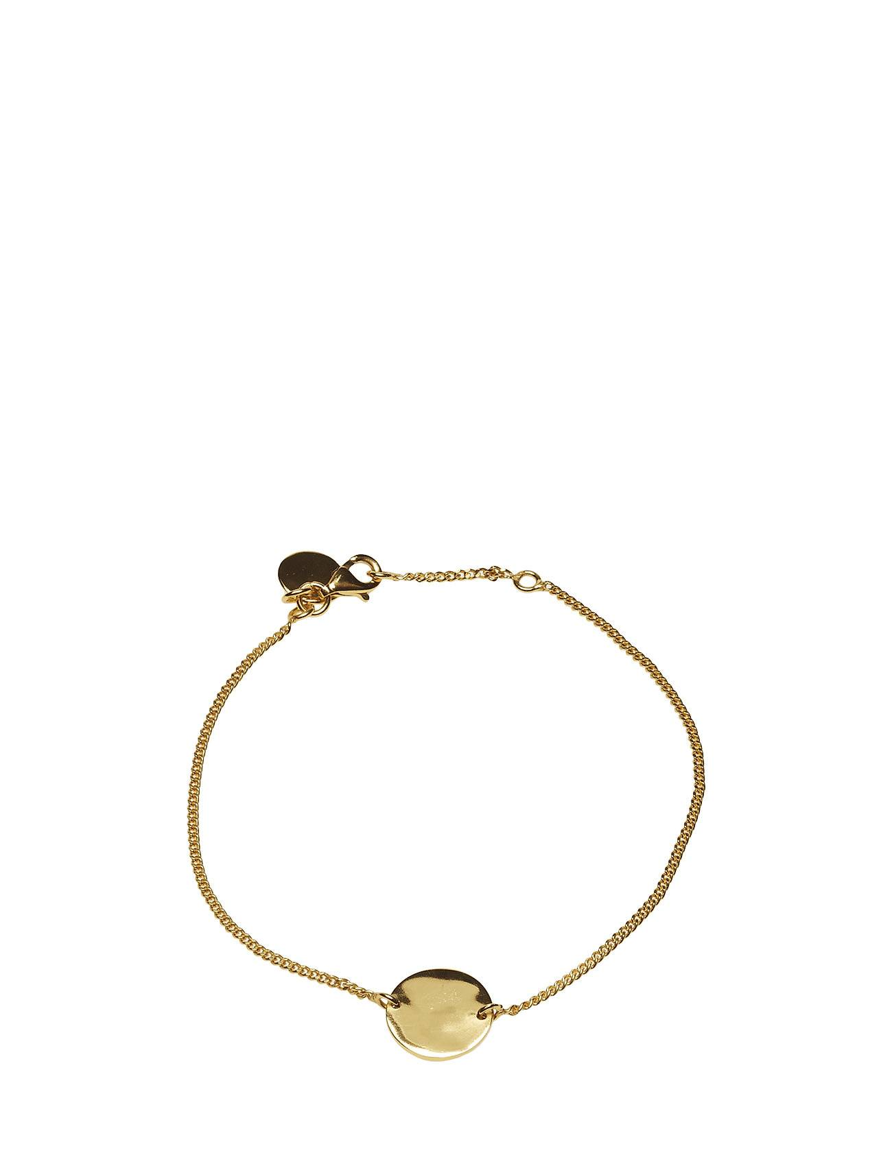 Syster P Minimalistica Hammered Circle Bracelet Gold