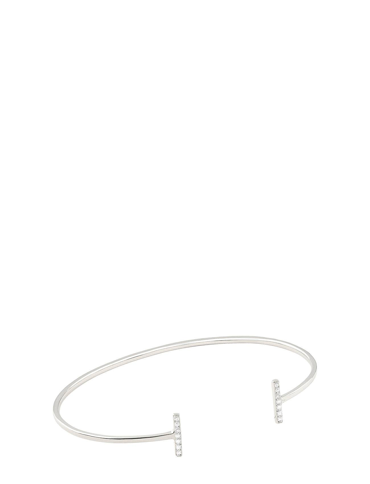 Syster P Strict Sparkling Bangle Bars, Silver