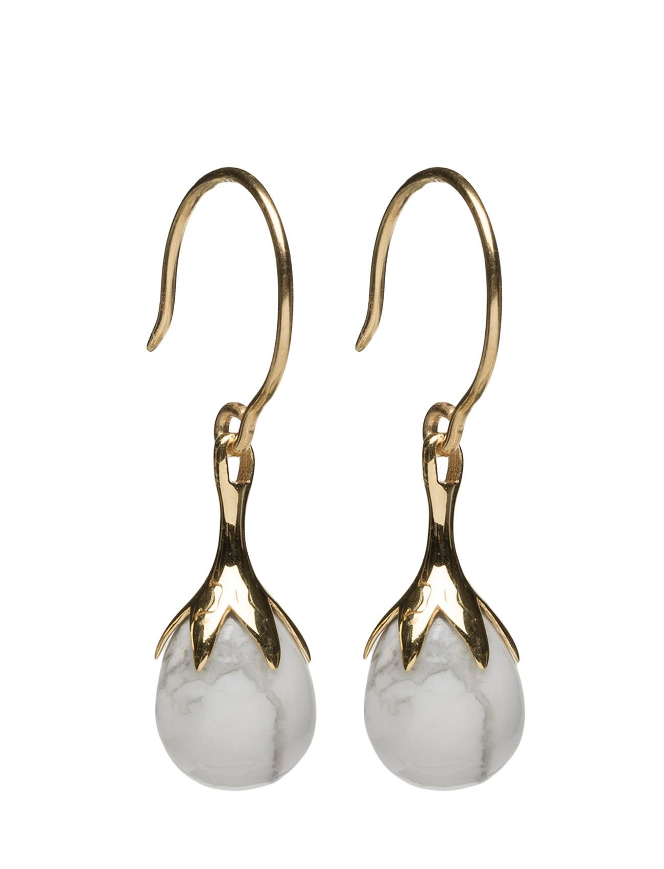 Syster P Dripping Earrings Gold Howalite