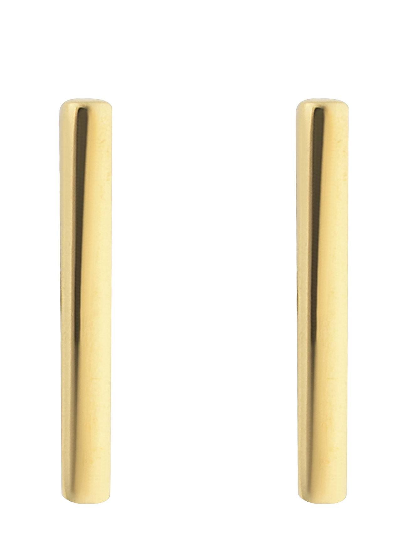Syster P Strict Plain Bar Earrings Gold Korvakoru Korut Kulta Syster P