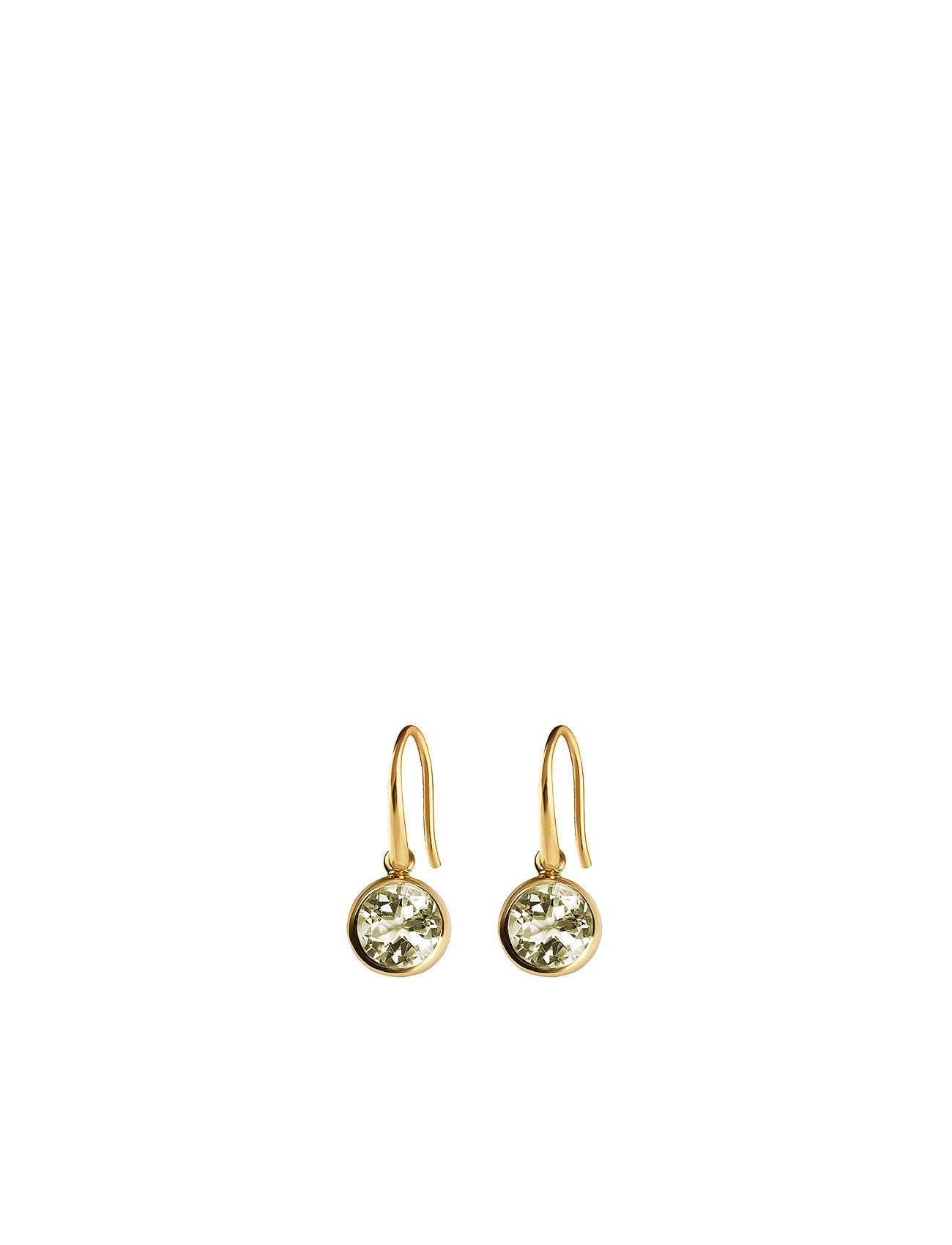 Syster P Lone Star Earrings Green Amethyst, Gold