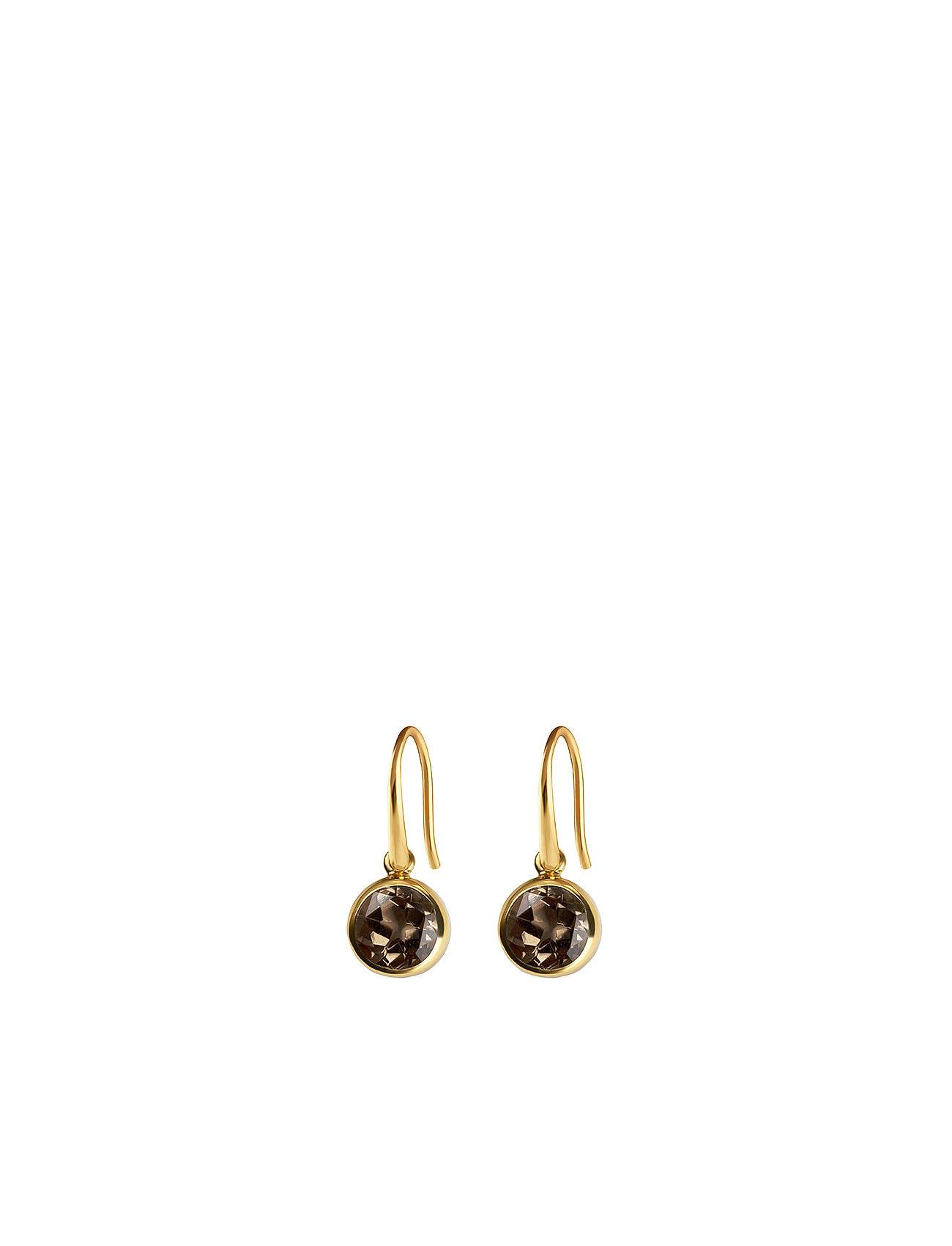 Syster P Lone Star Earrings Smokey, Gold