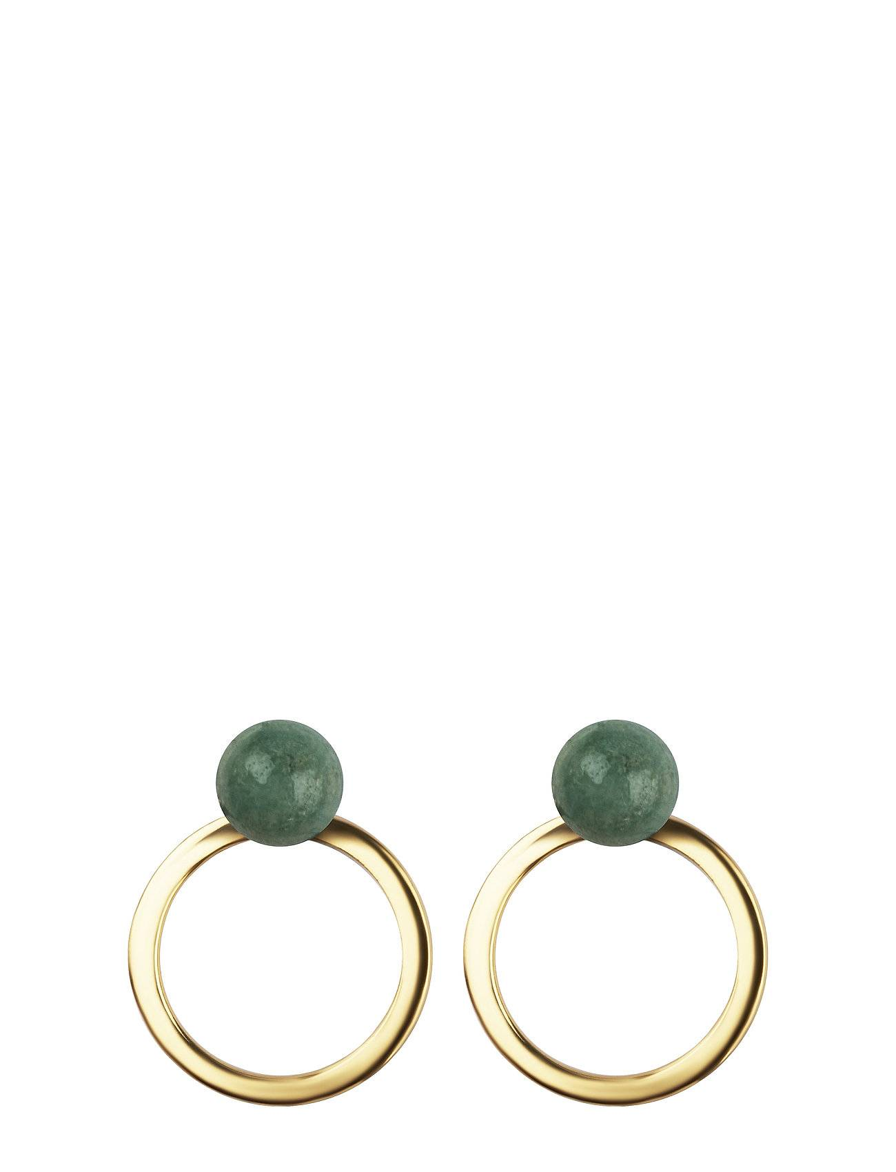 Syster P Planet Earrings Gold Amazonite