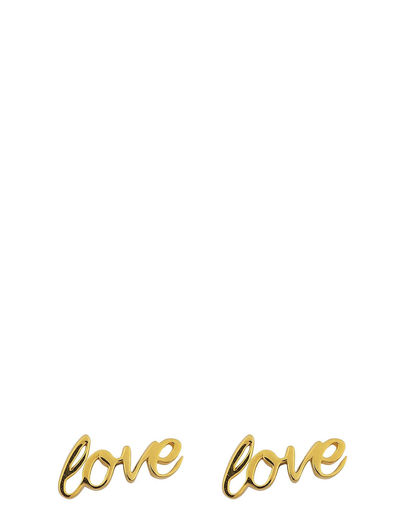 Syster P Snap Earrings Love Gold