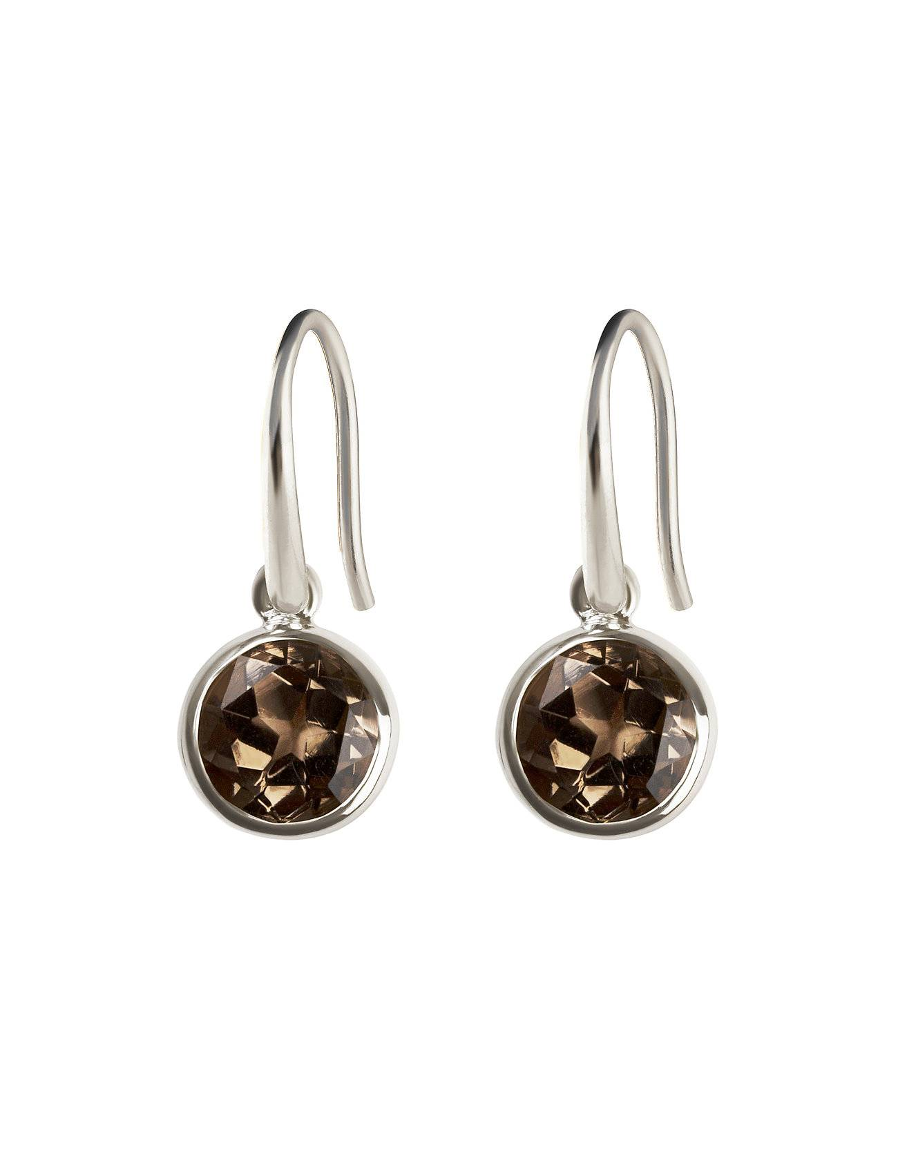 Syster P Lone Star Earrings Smokey, Silver