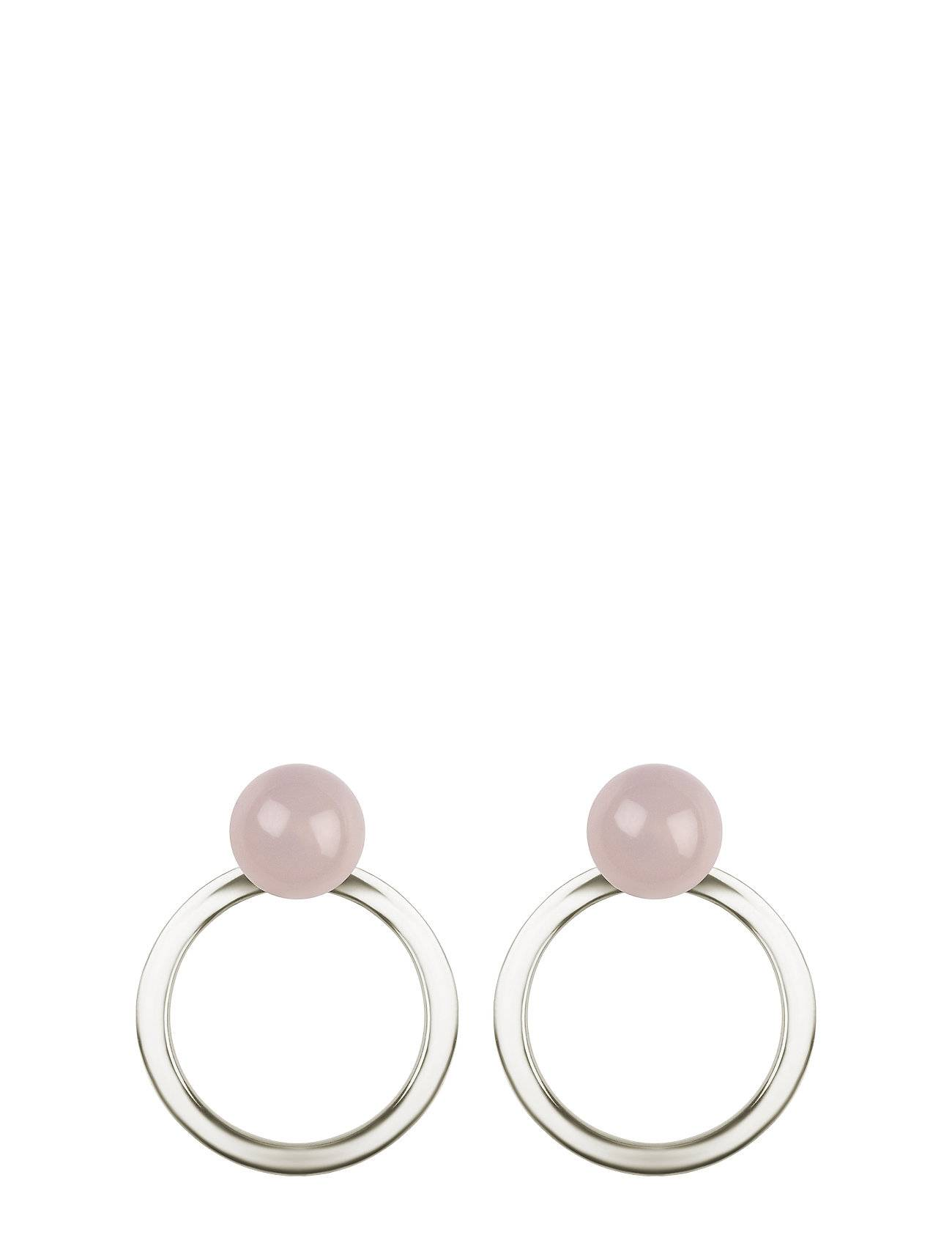 Syster P Planet Earrings Silver Rose
