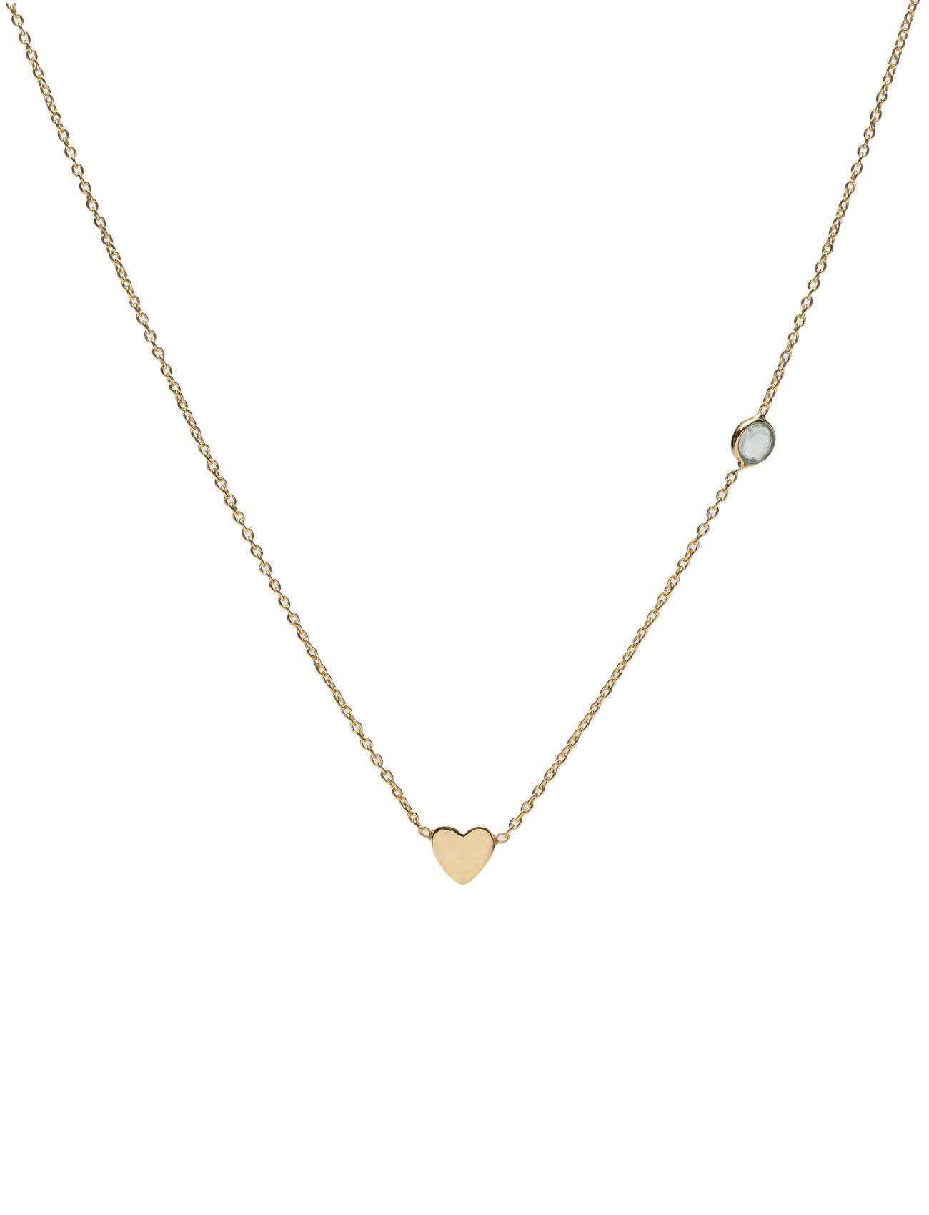 Syster P Sparkle Necklace Gold Heart Green Aventurine