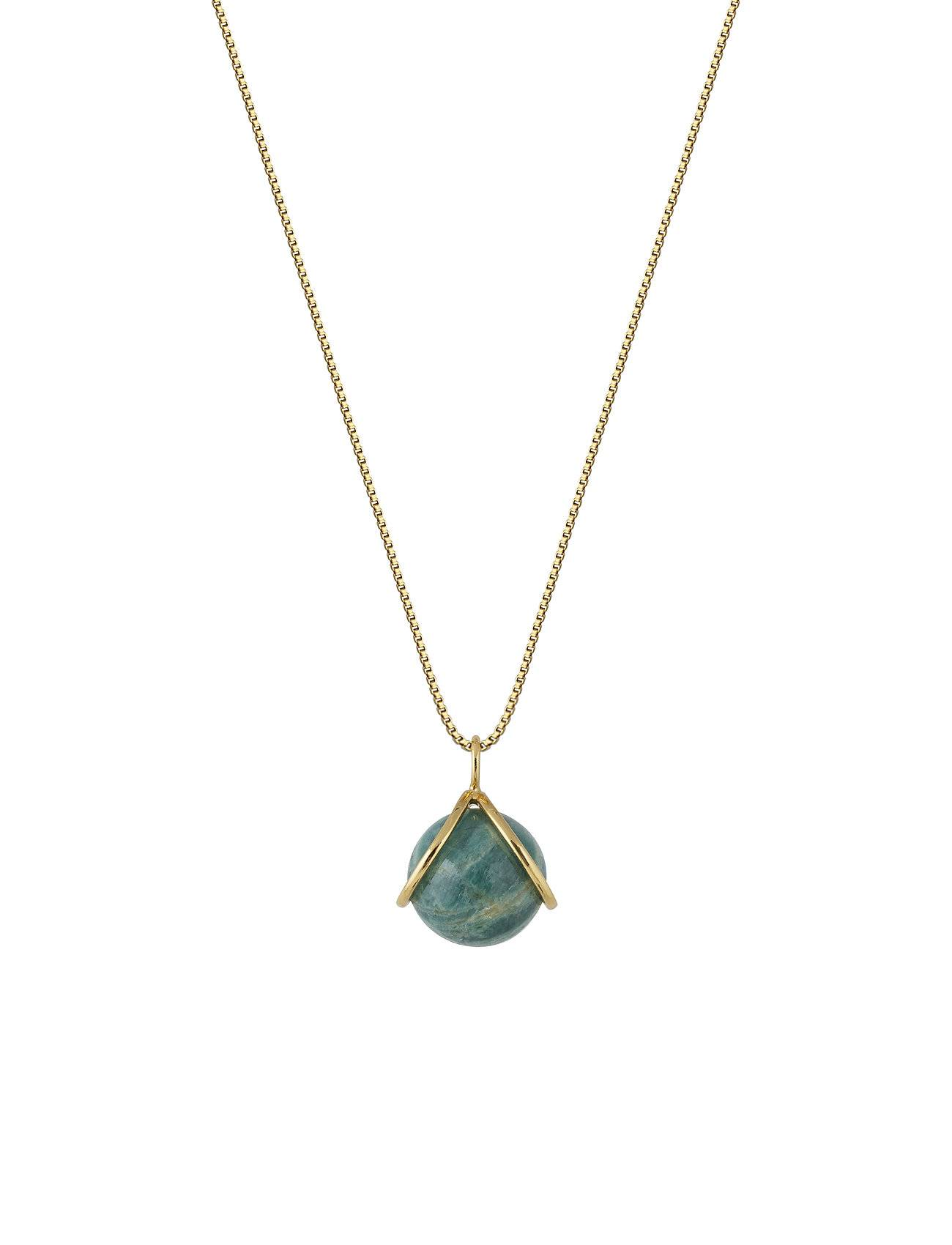 Syster P Planet Necklace Gold Amazonite