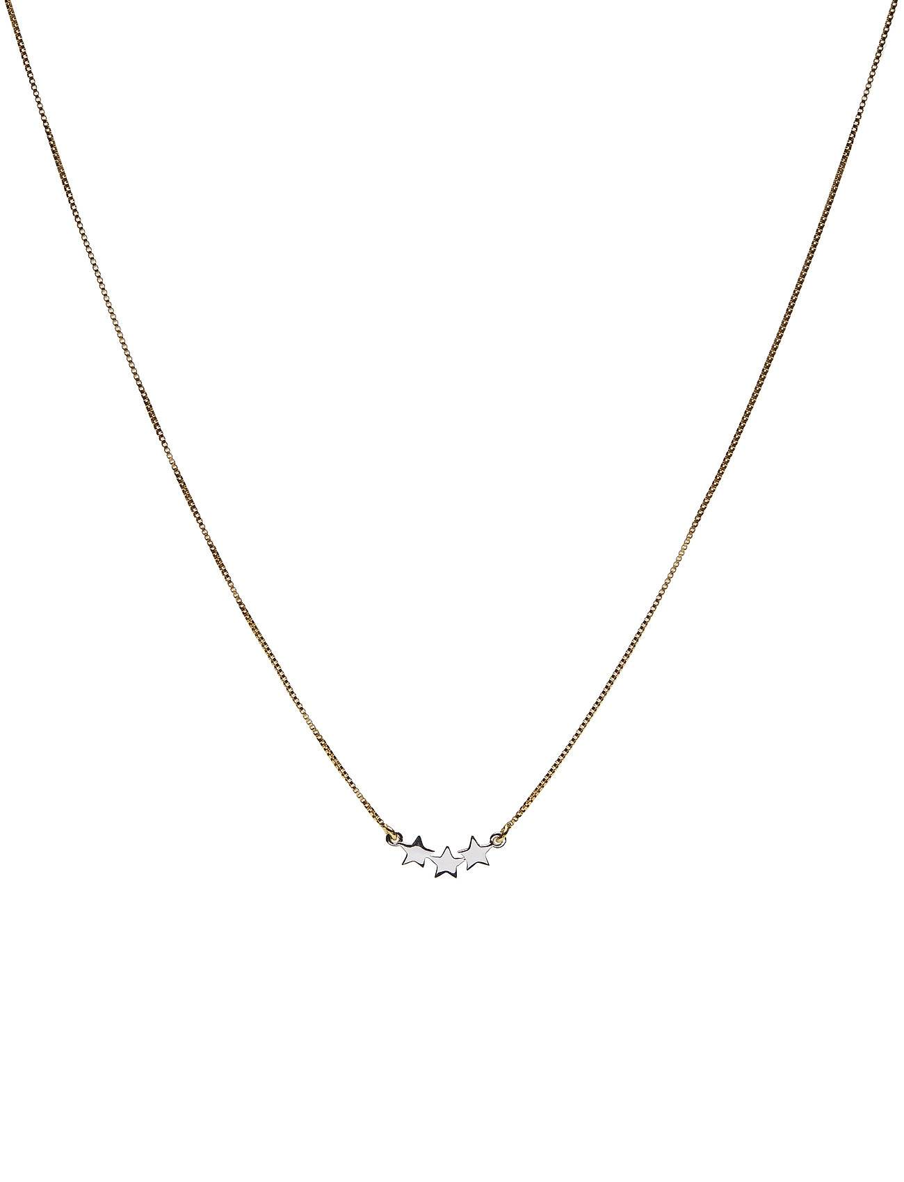 Syster P Snap Necklace Triple Star Plain Gold