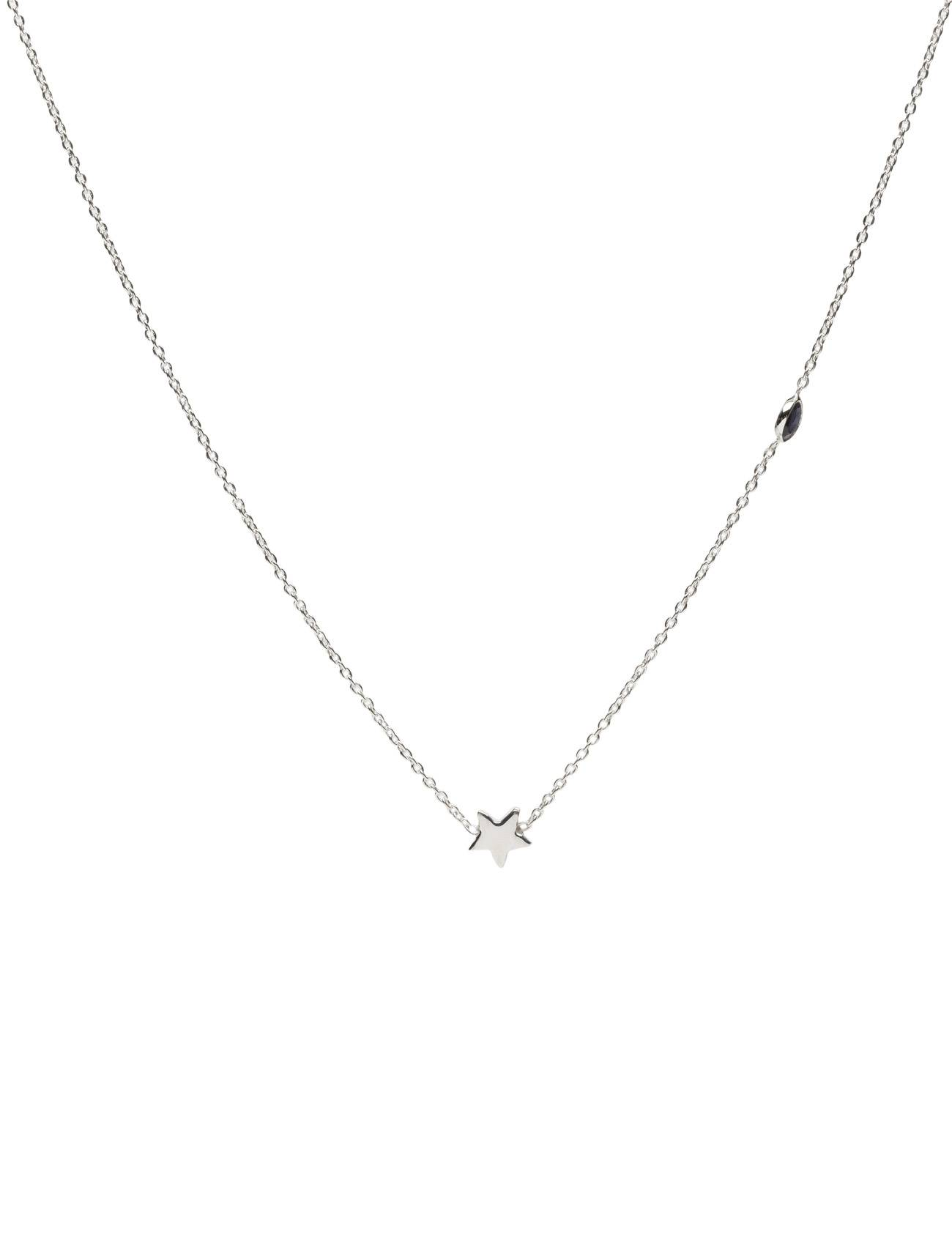 Syster P Sparkle Necklace Silver Star Blue Iolite