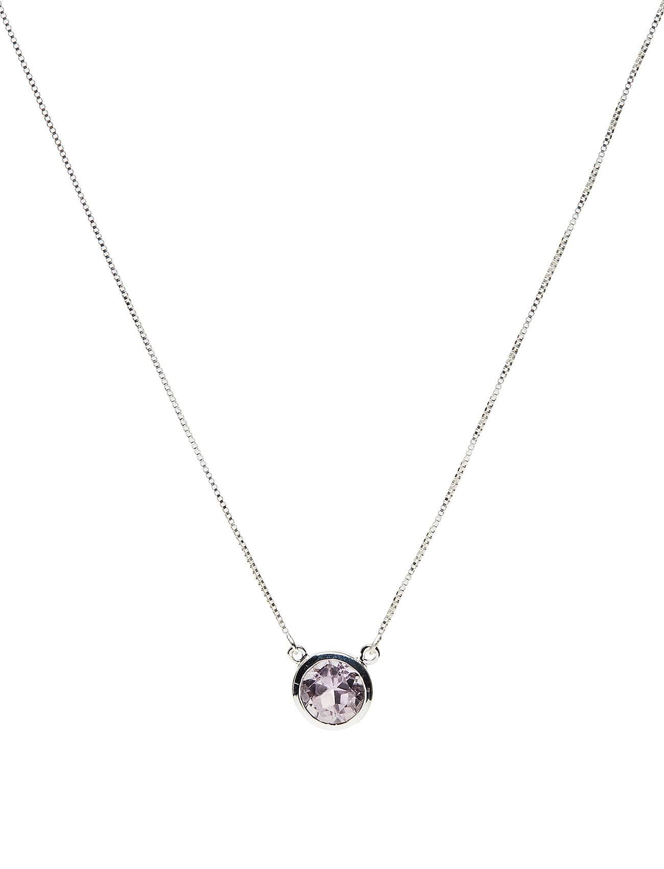 Syster P Lone Star Necklace Pink Amethyst, Silver