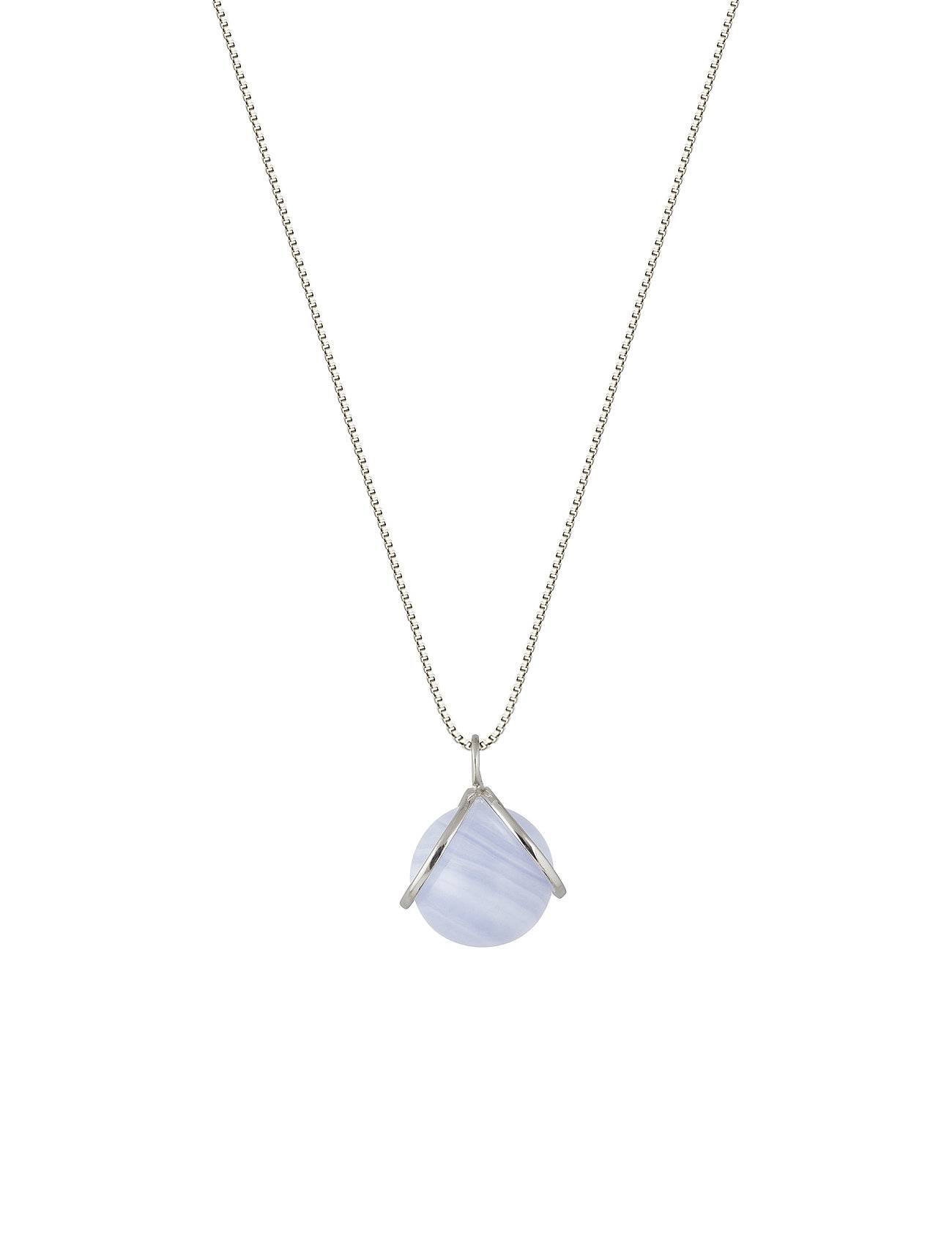 Syster P Planet Necklace Silver Blue Lace